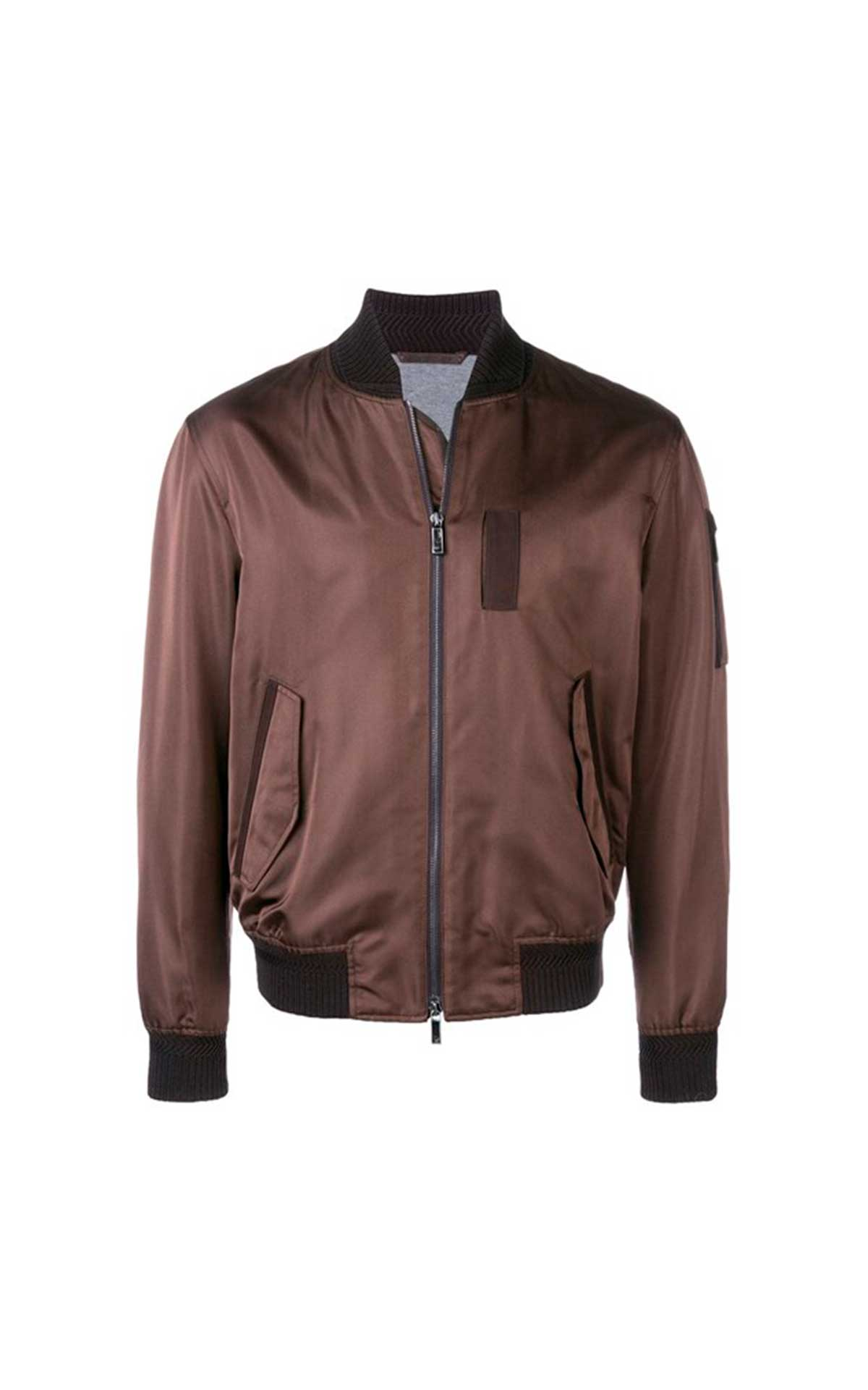 Brown bomber for man Ermenegildo Zegna