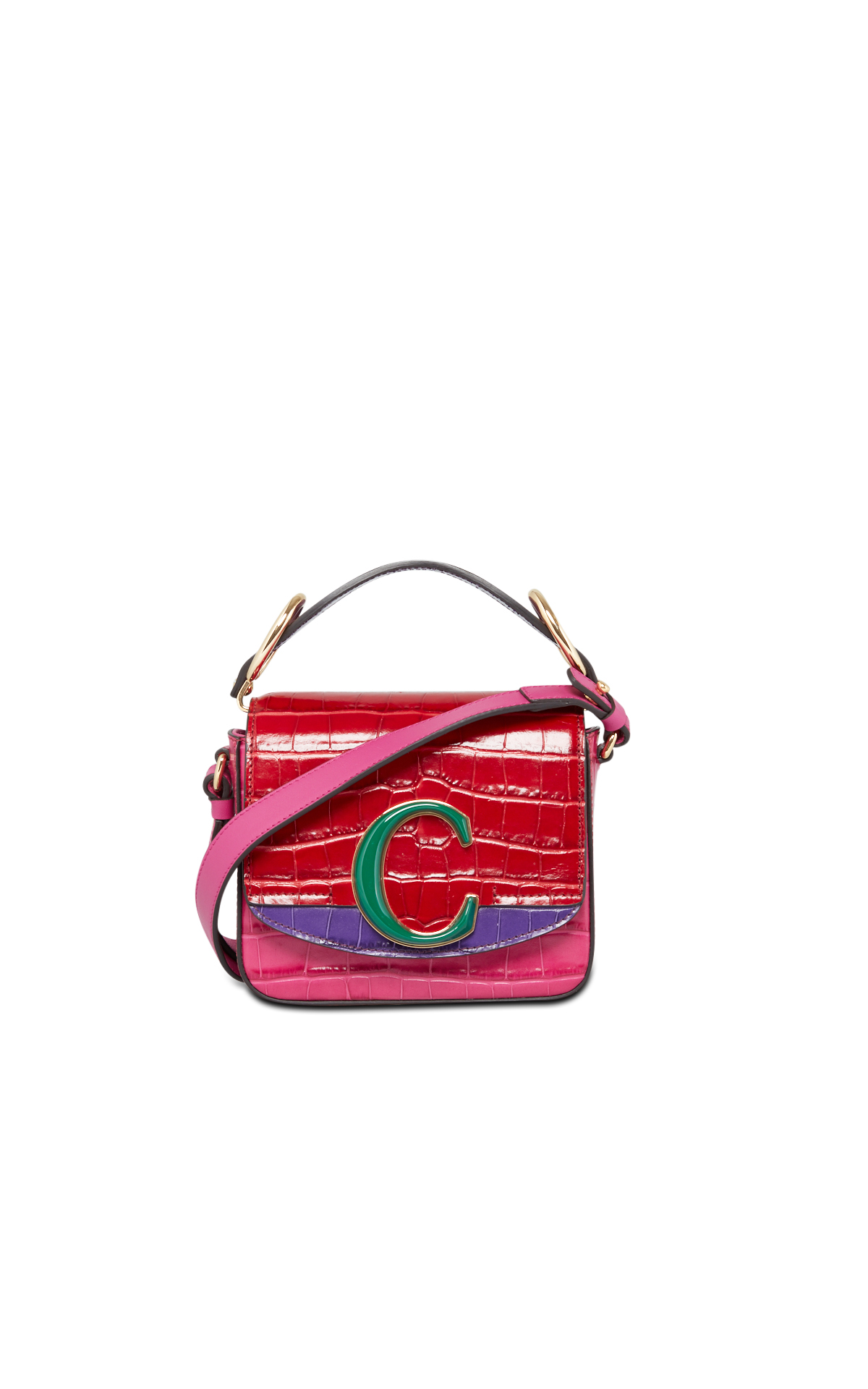 Chloé Pink and red 'C' bag