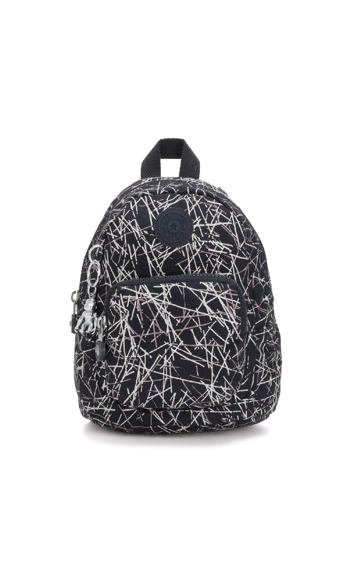 Black printed backpack Kipling