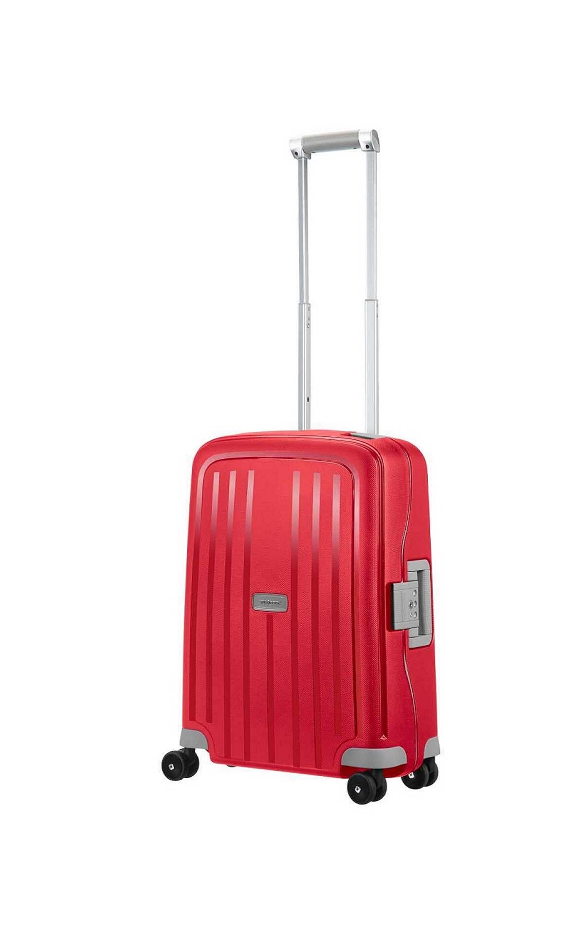 Red Macer cabin suitcase Samsonite