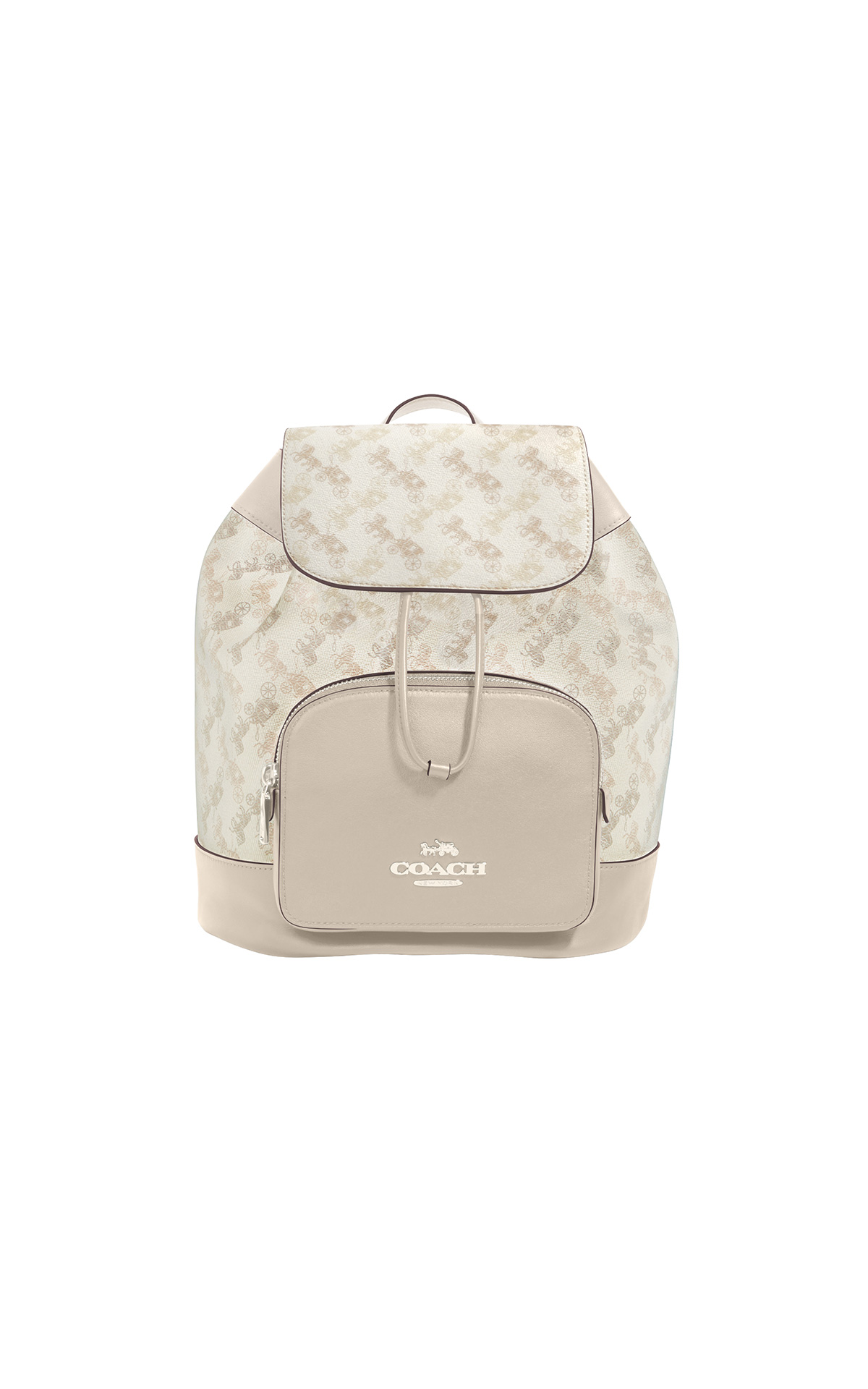 Coach Horse and Carriage Jes Backpack in cream beige multi at The Bicester Village Shopping Collection