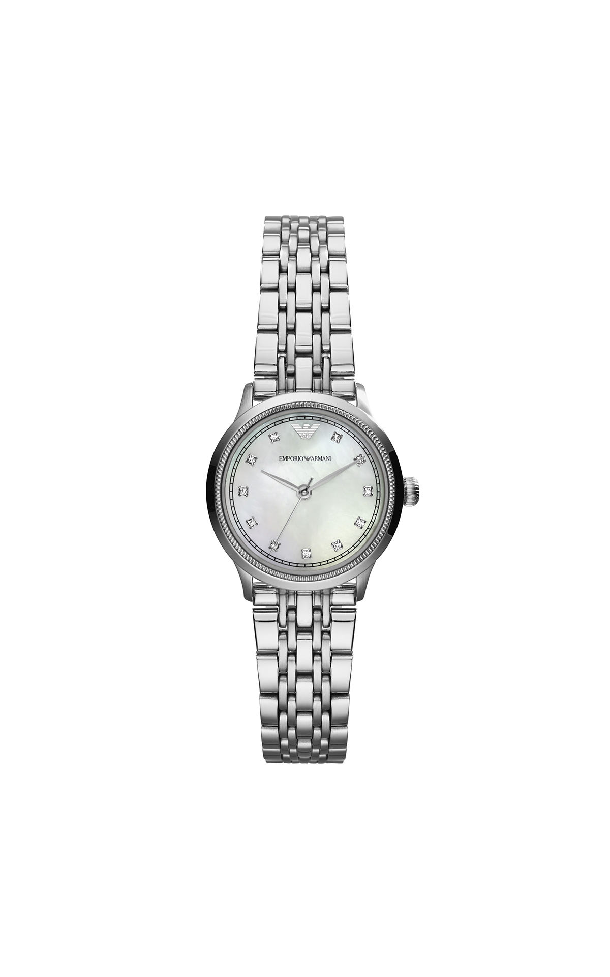 Silver watch for woman Armani