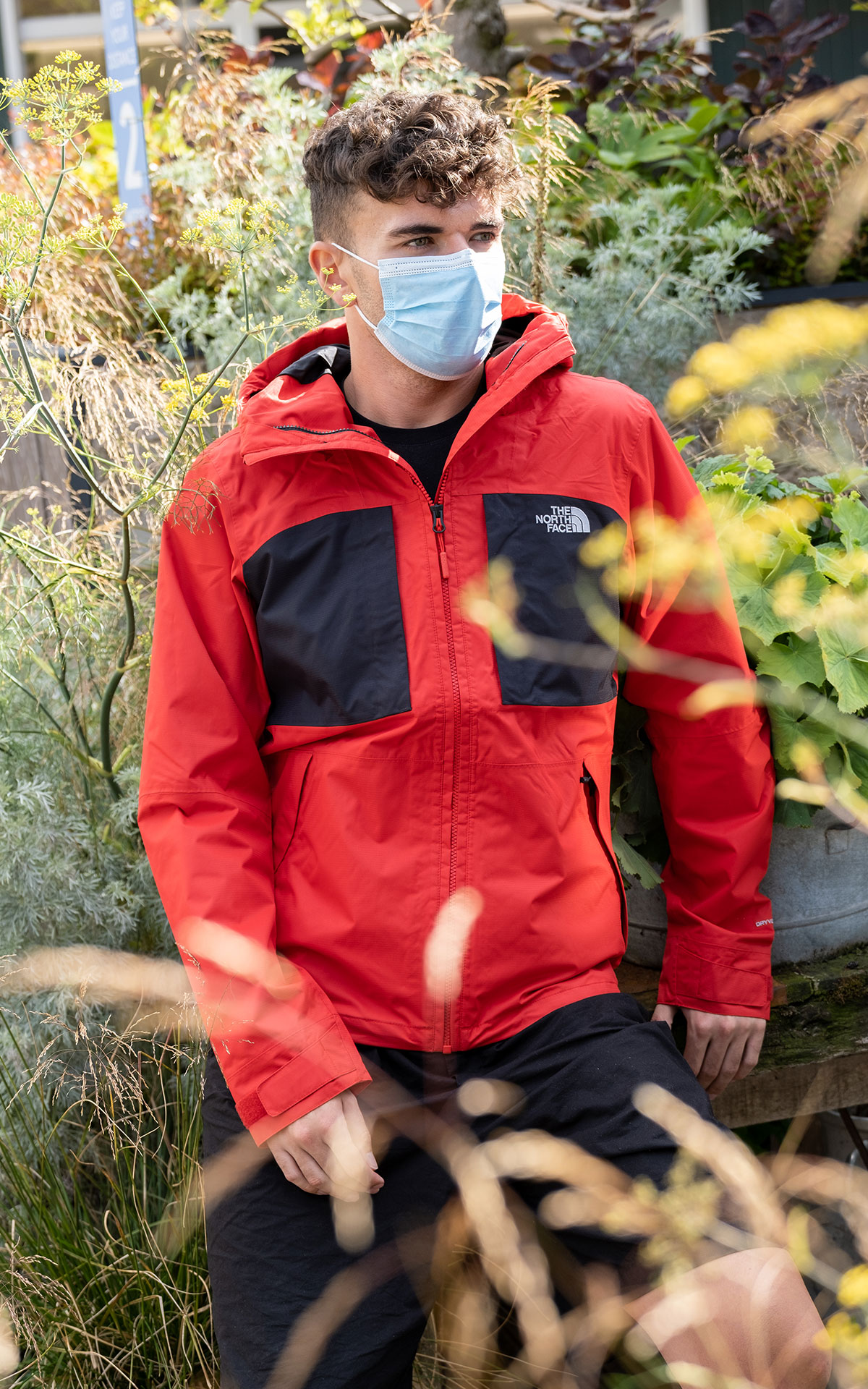 The North Face Purna jacket salsa red from Bicester Village