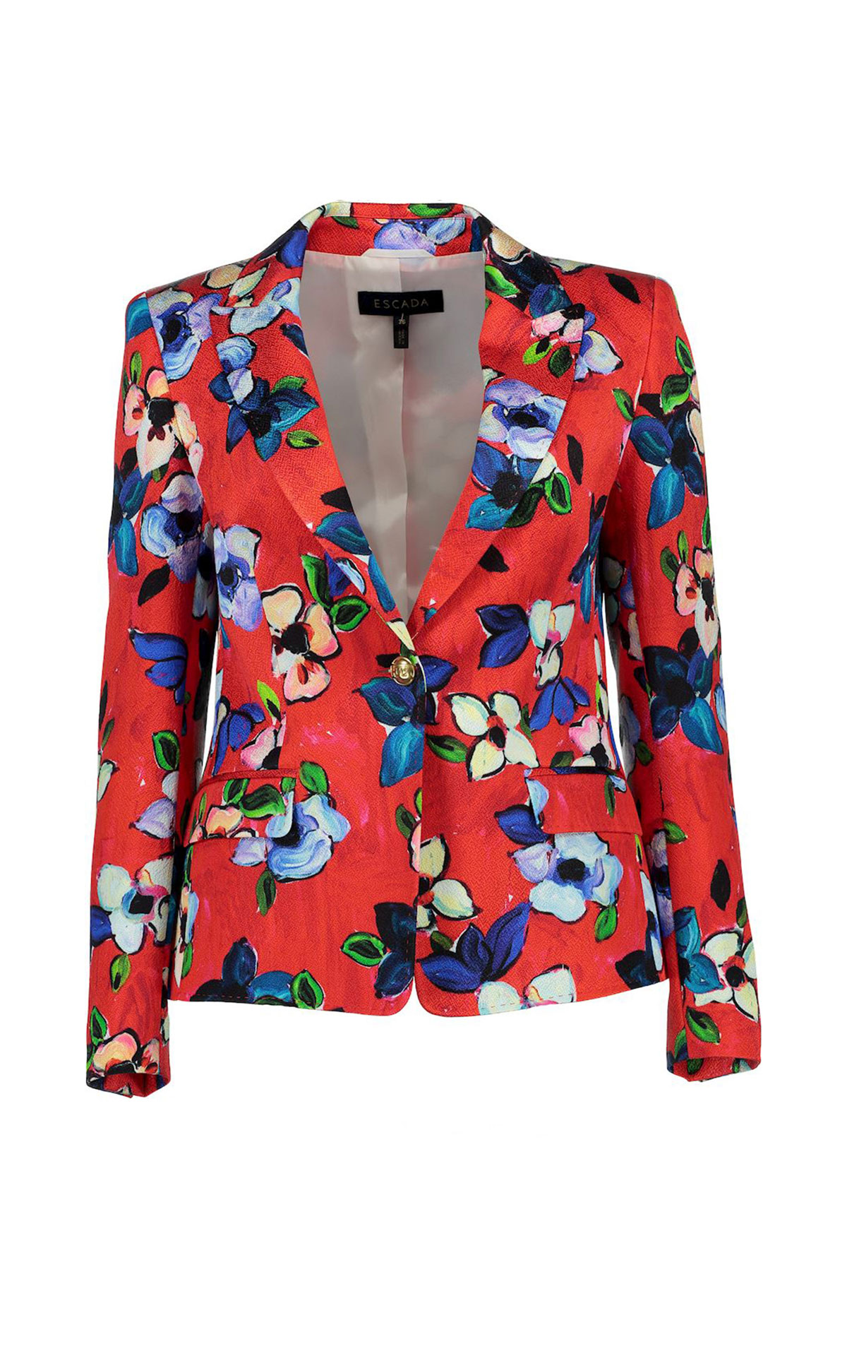 Red flowered blazer Escada