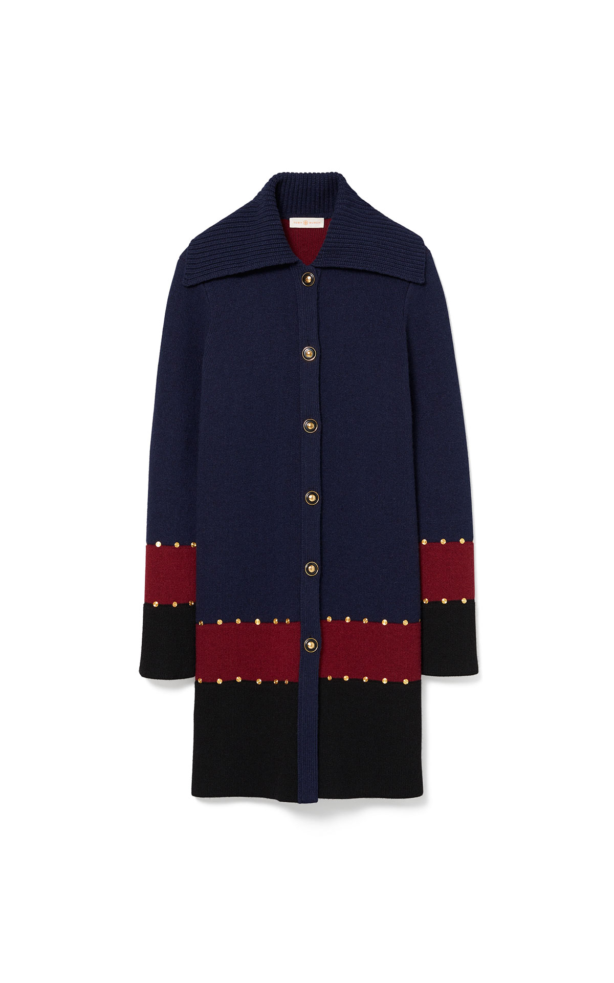 Tory Burch Stud sweater coat from Bicester Village