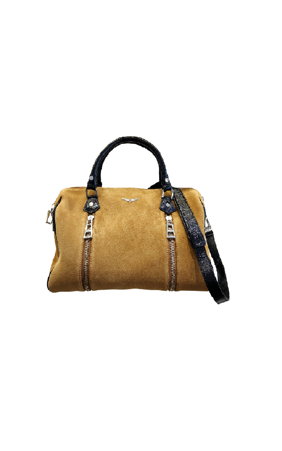 Brown suede bag Zadig & Voltaire