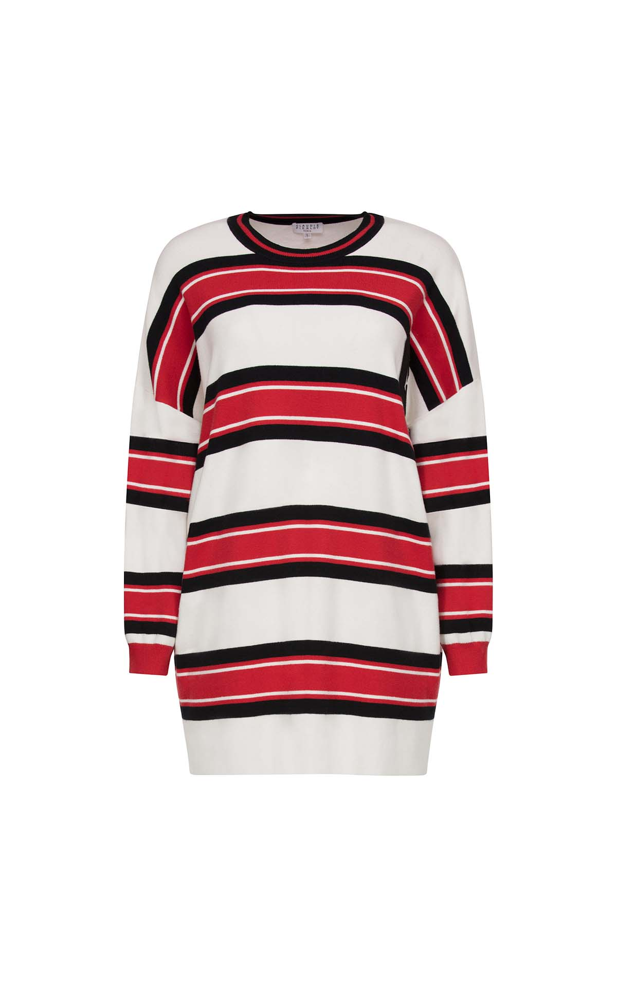 White and red striped sweater for woman Claudie Pierlot