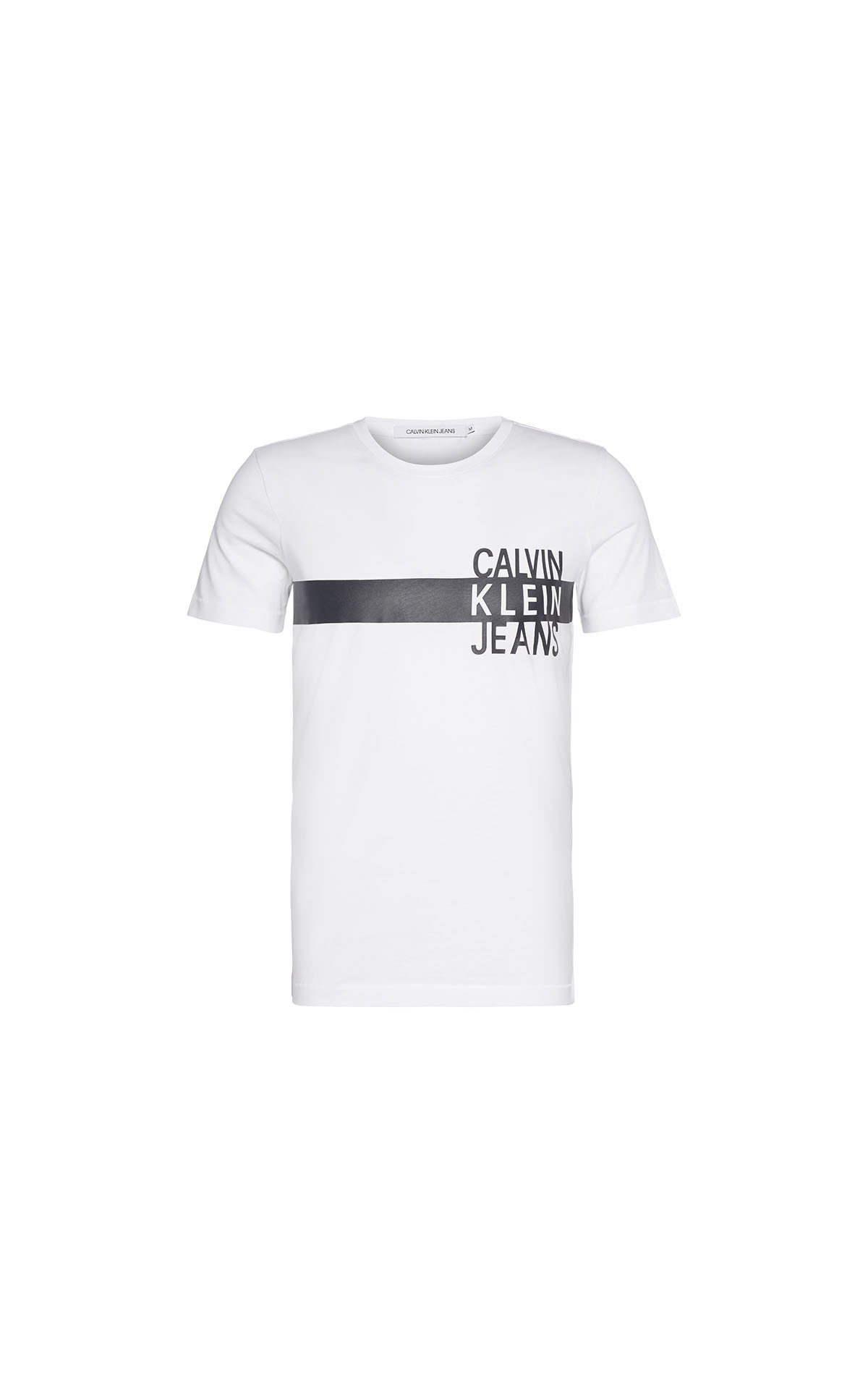 Calvin Klein Men's eo stacked logo tee at The Bicester Village Shopping Collection