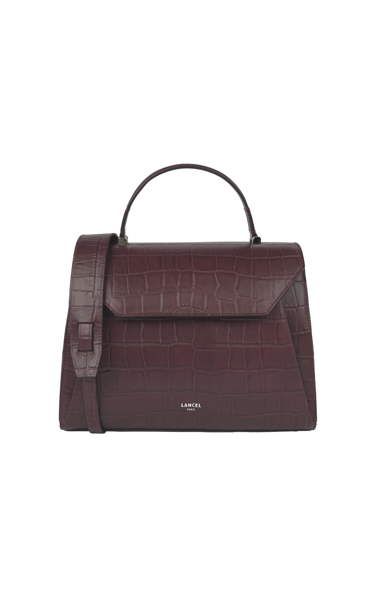 Bordeaux leather bag Lancel