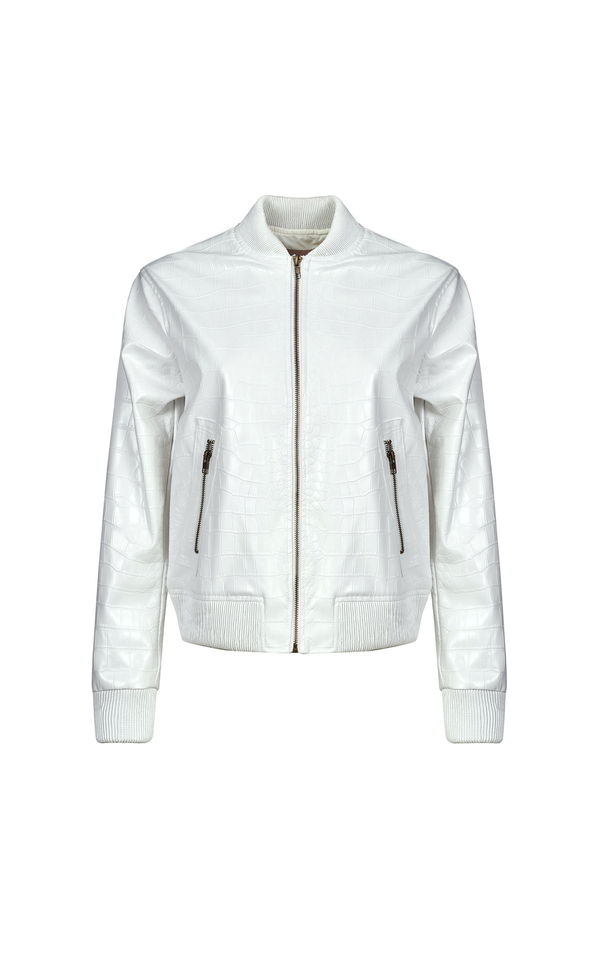 White croc effect jacket TWINSET