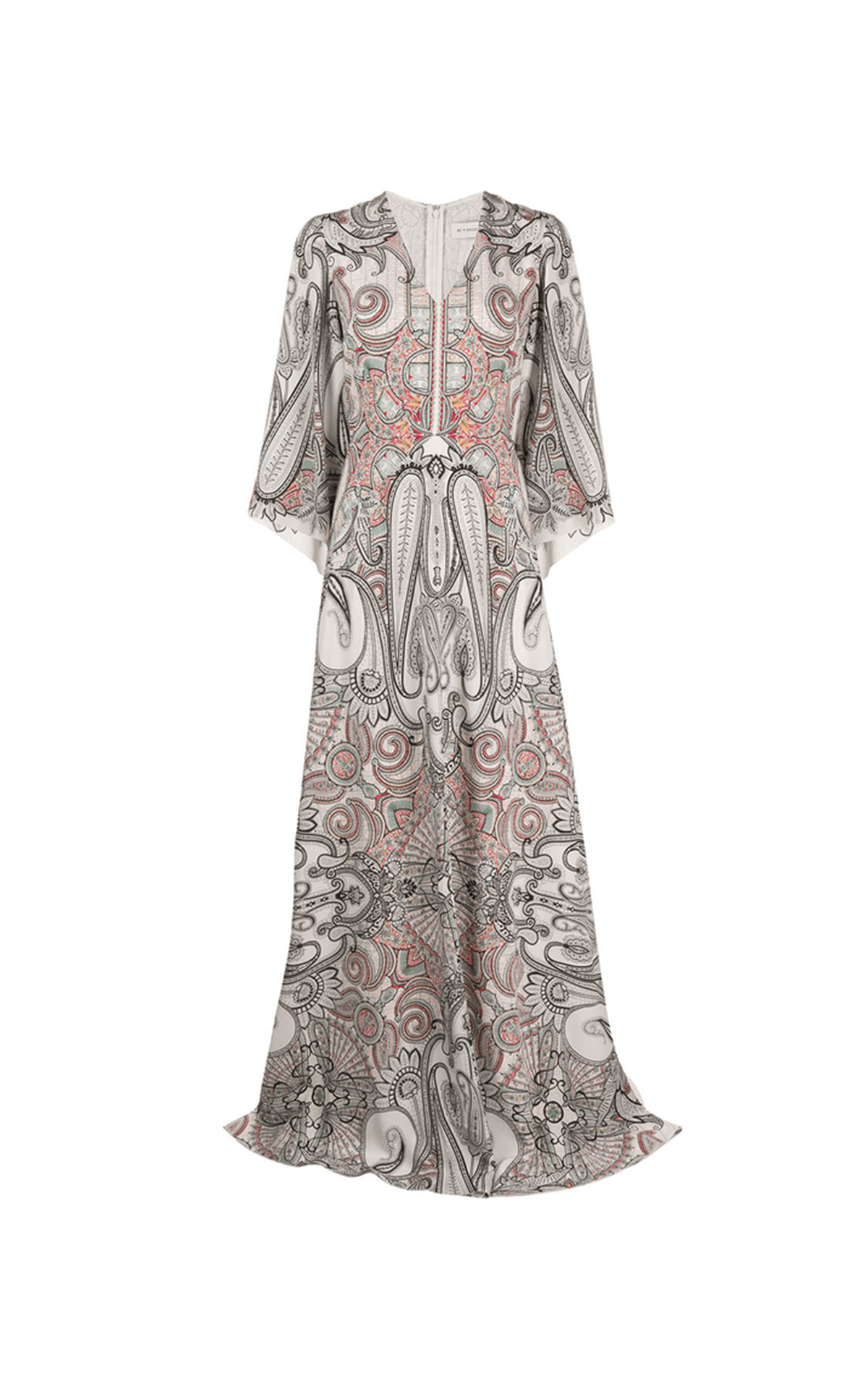White silk printed maxi dress Etro