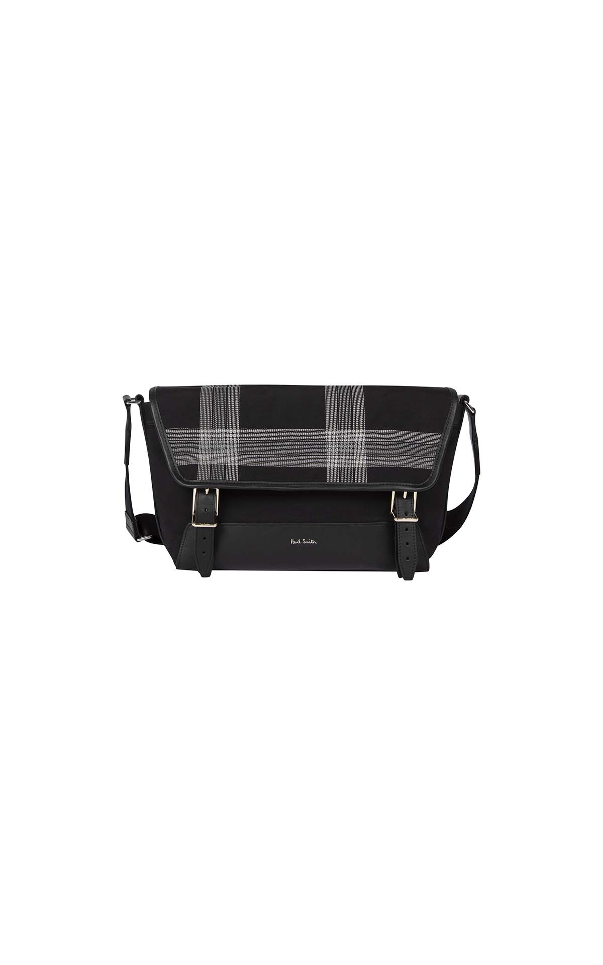 Paul Smith Men's Checked Black Bag at The Bicester Village Shopping Collection
