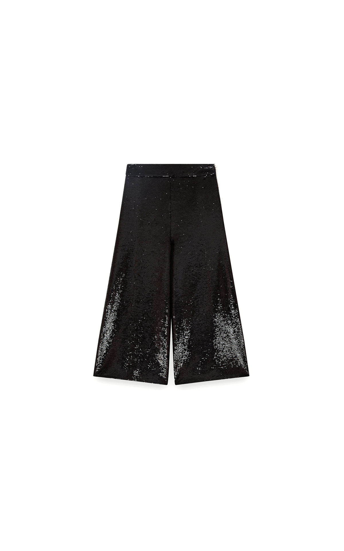 Maje Sequin bermuda-style pants in black at The Bicester Village Shopping Collection