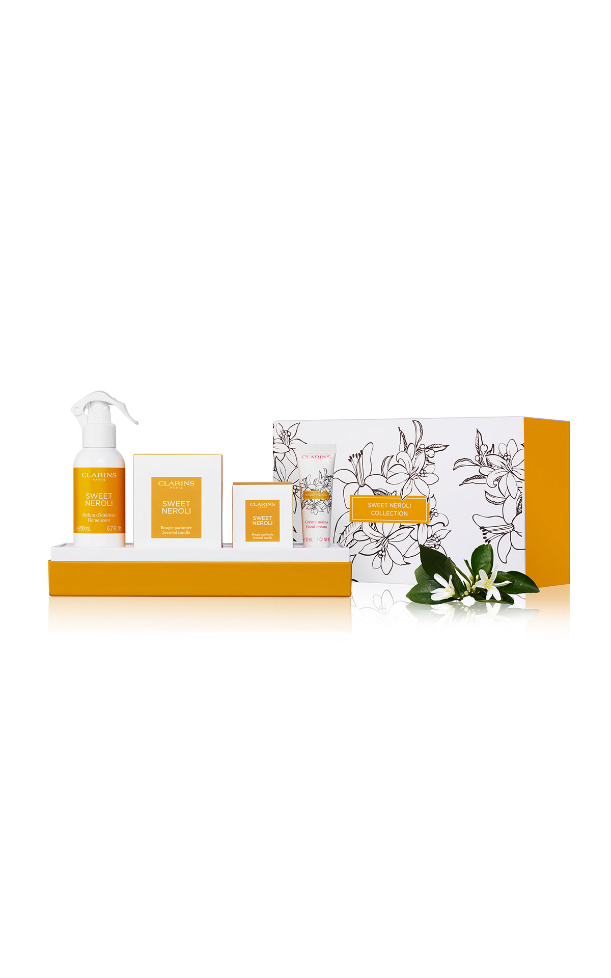 Clarins Sweet neroli collection from Bicester Village