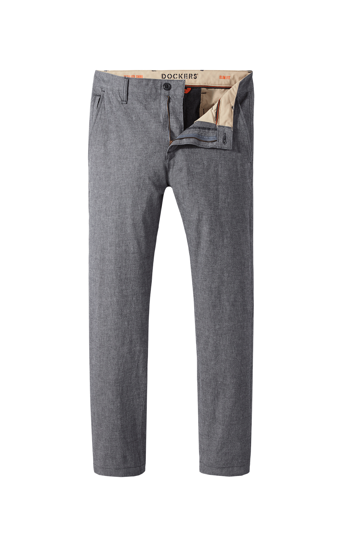 Long dark grey chino trousers for man Dockers