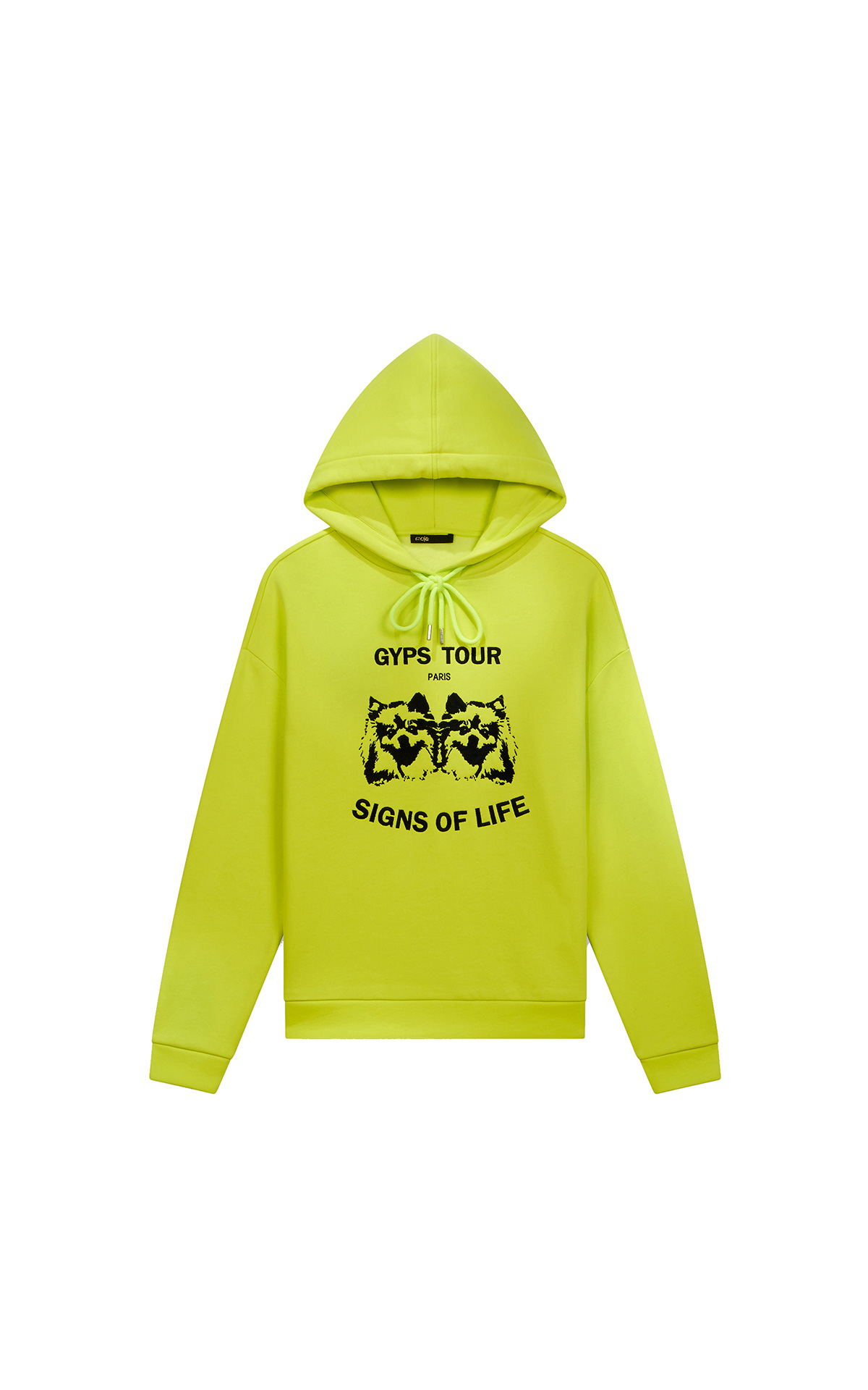 Maje Embroidered hooded sweatshirt in gren at The Bicester Village Shopping Collection