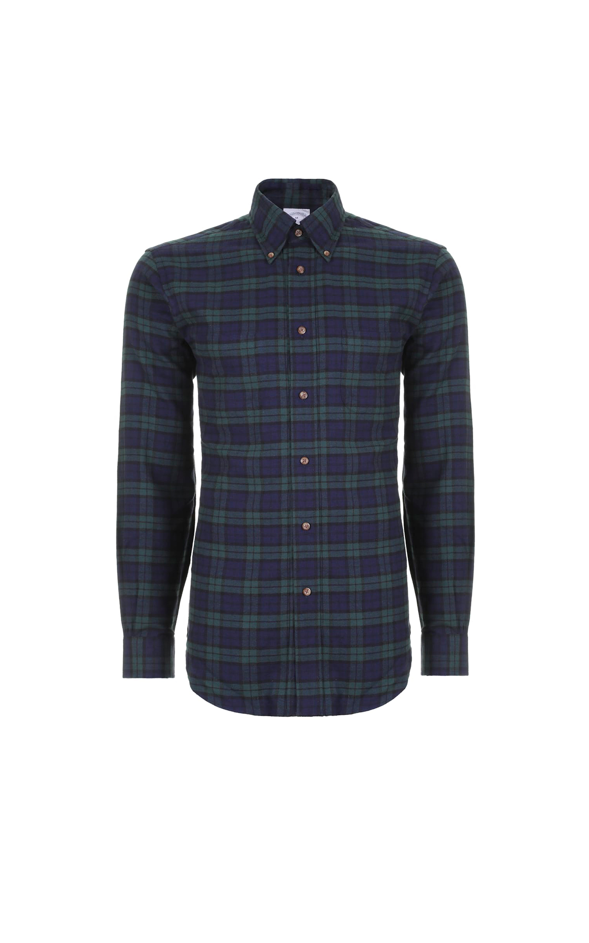 Blue and green tartan shirt Brooks Brothers