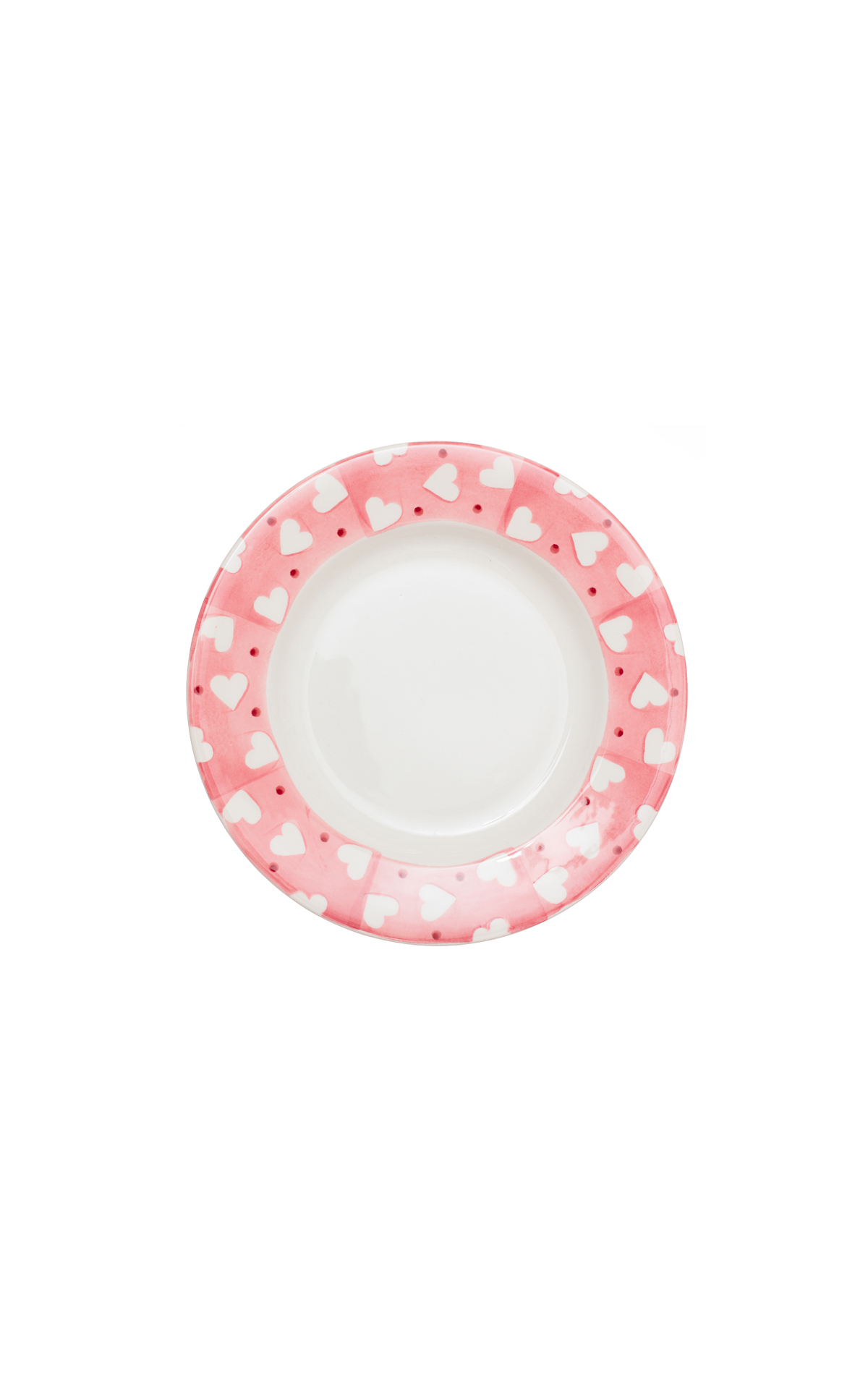 Emma Bridgewater Pink hearts and dots 8 1/2 inch plate from Bicester Village