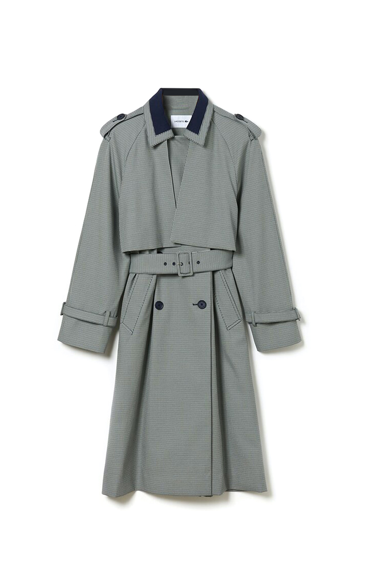 Grey trench Lacoste