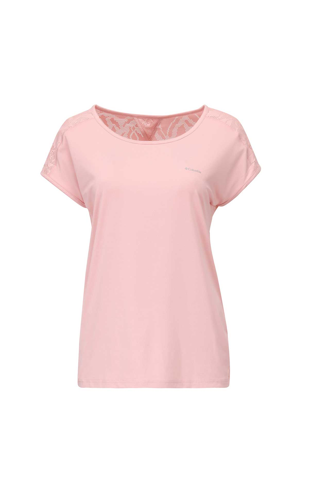 Pink short sleeves T-shirt for woman Columbia