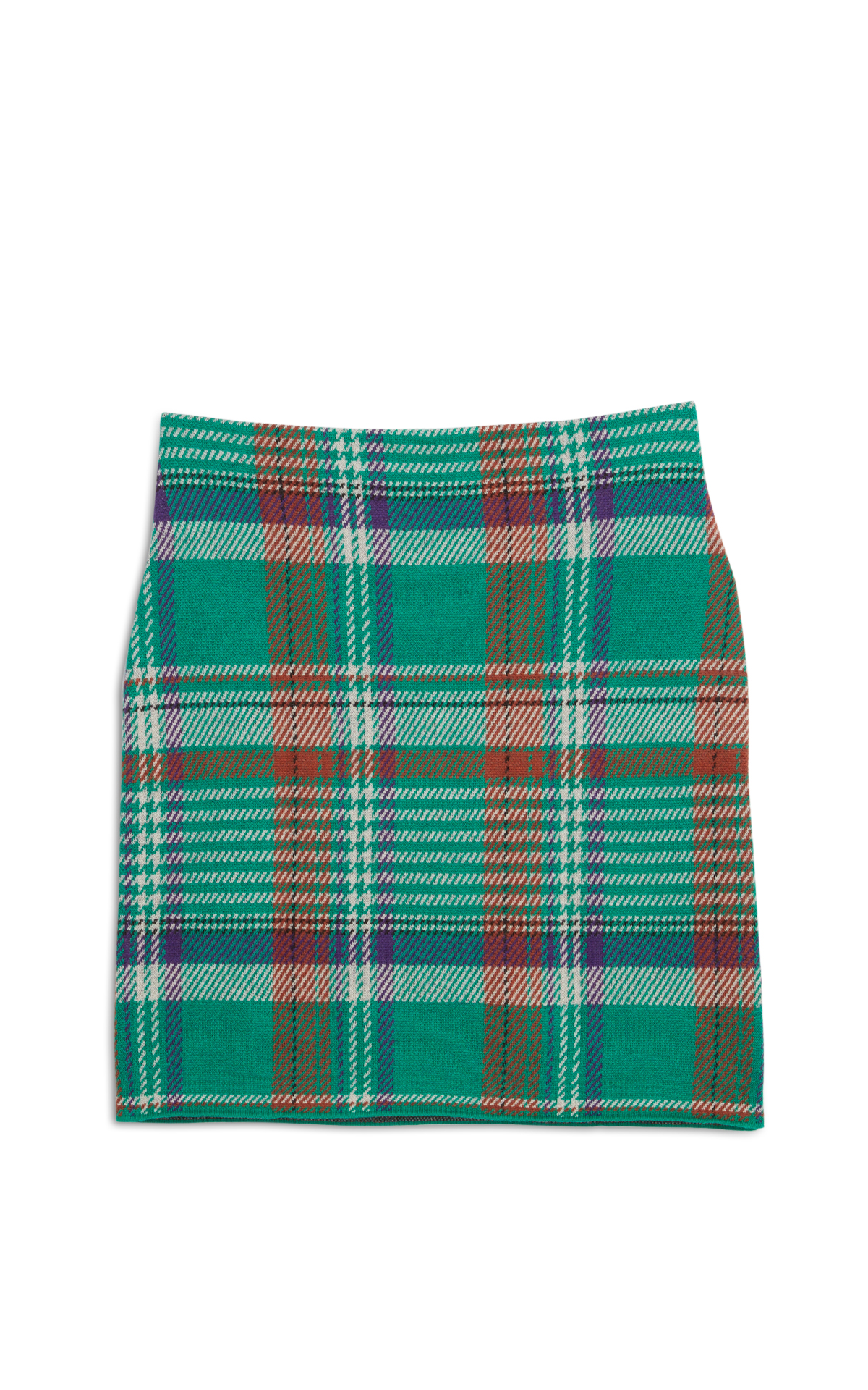Eric Bompard green checked skirt la vallée village