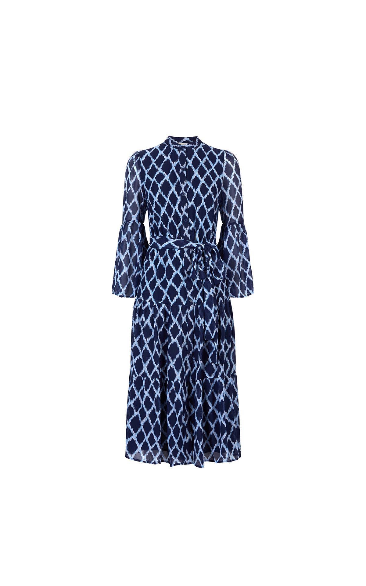 Michael Kors Women's Mega Diamond Ikat dress in shore blue at The Bicester Village Shopping Collection