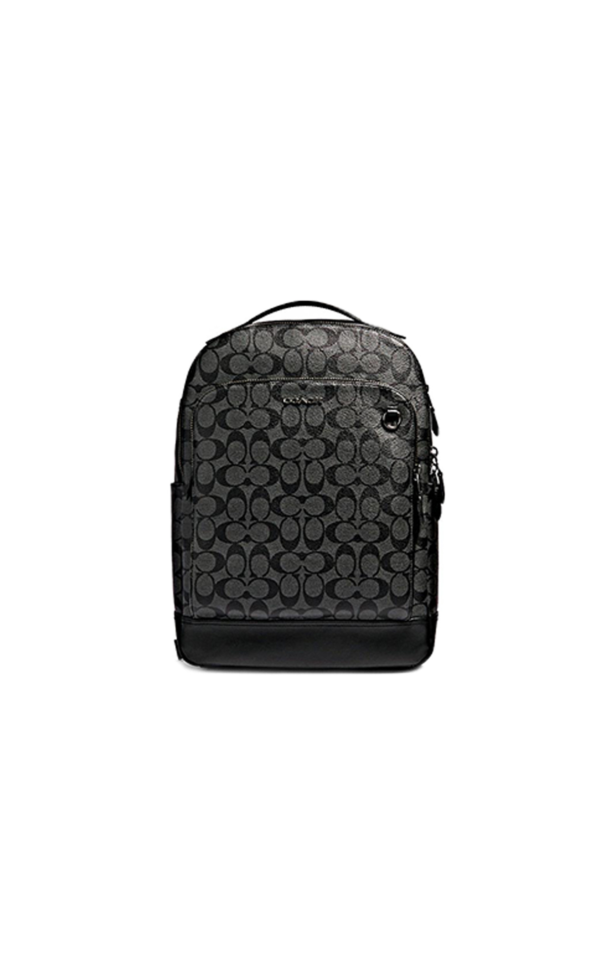Black New graham backpack with logo for man Coach