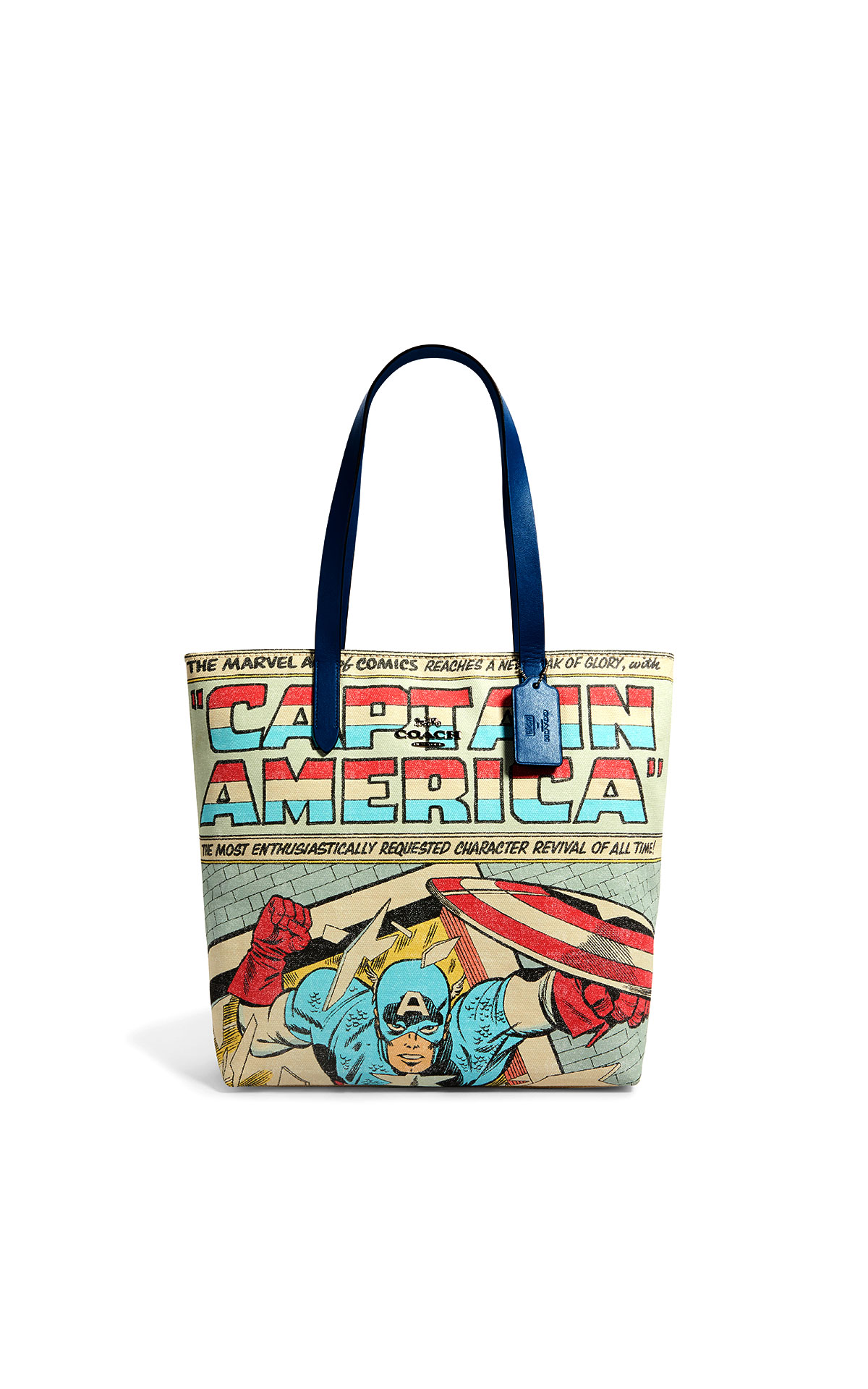 Coach Captain America canvas tote at The Bicester Village Shopping Collection