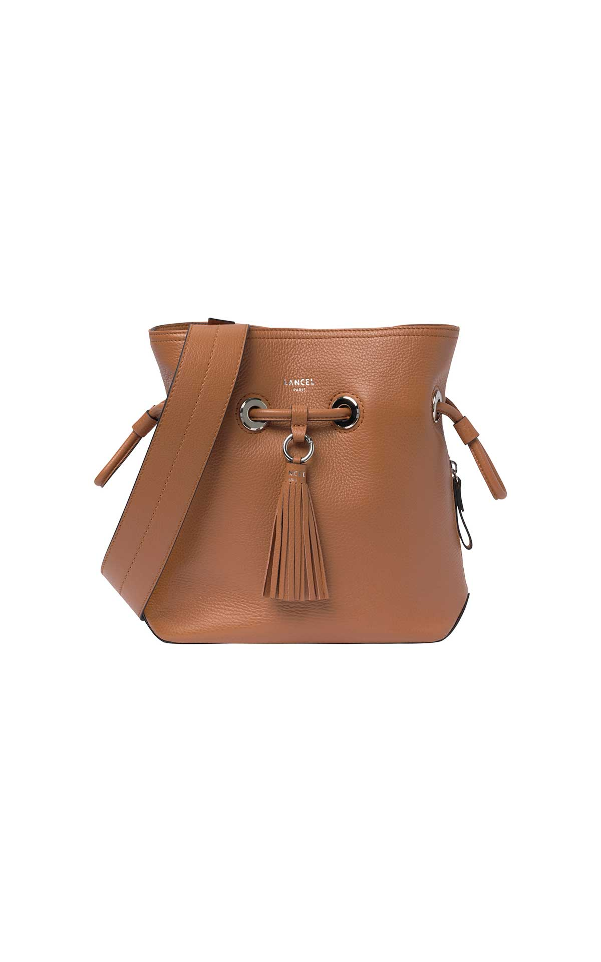Camel shoulder bag woman Lancel