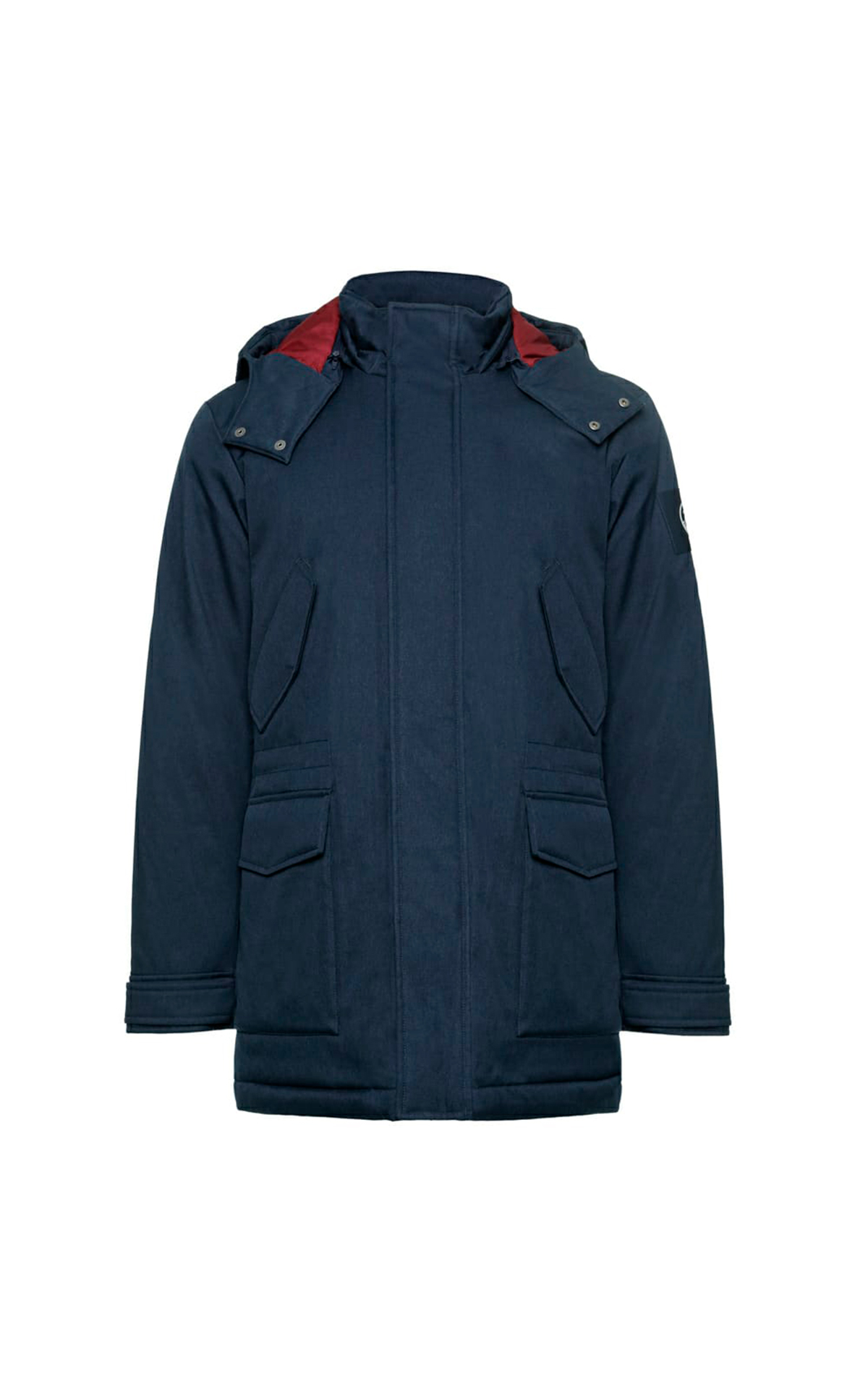 Long blue puffer jacket Brooks Brothers
