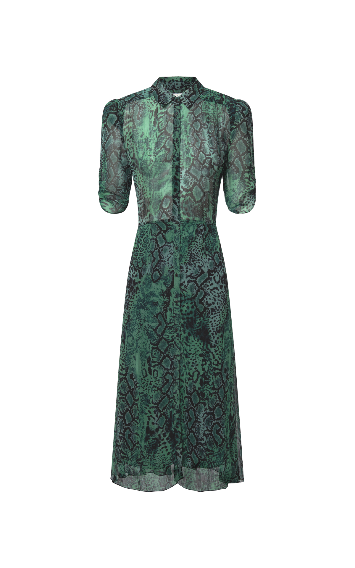Green printed dress Ba&sh