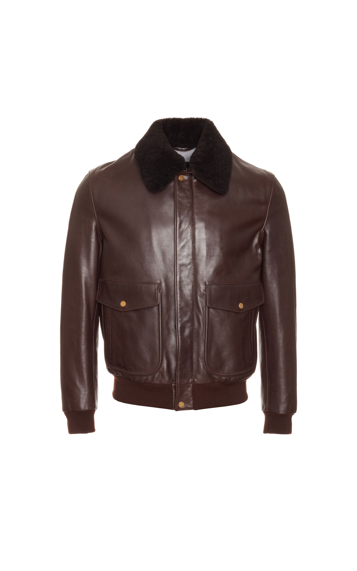 dunhill Men's aviator leather jacket from Bicester Village