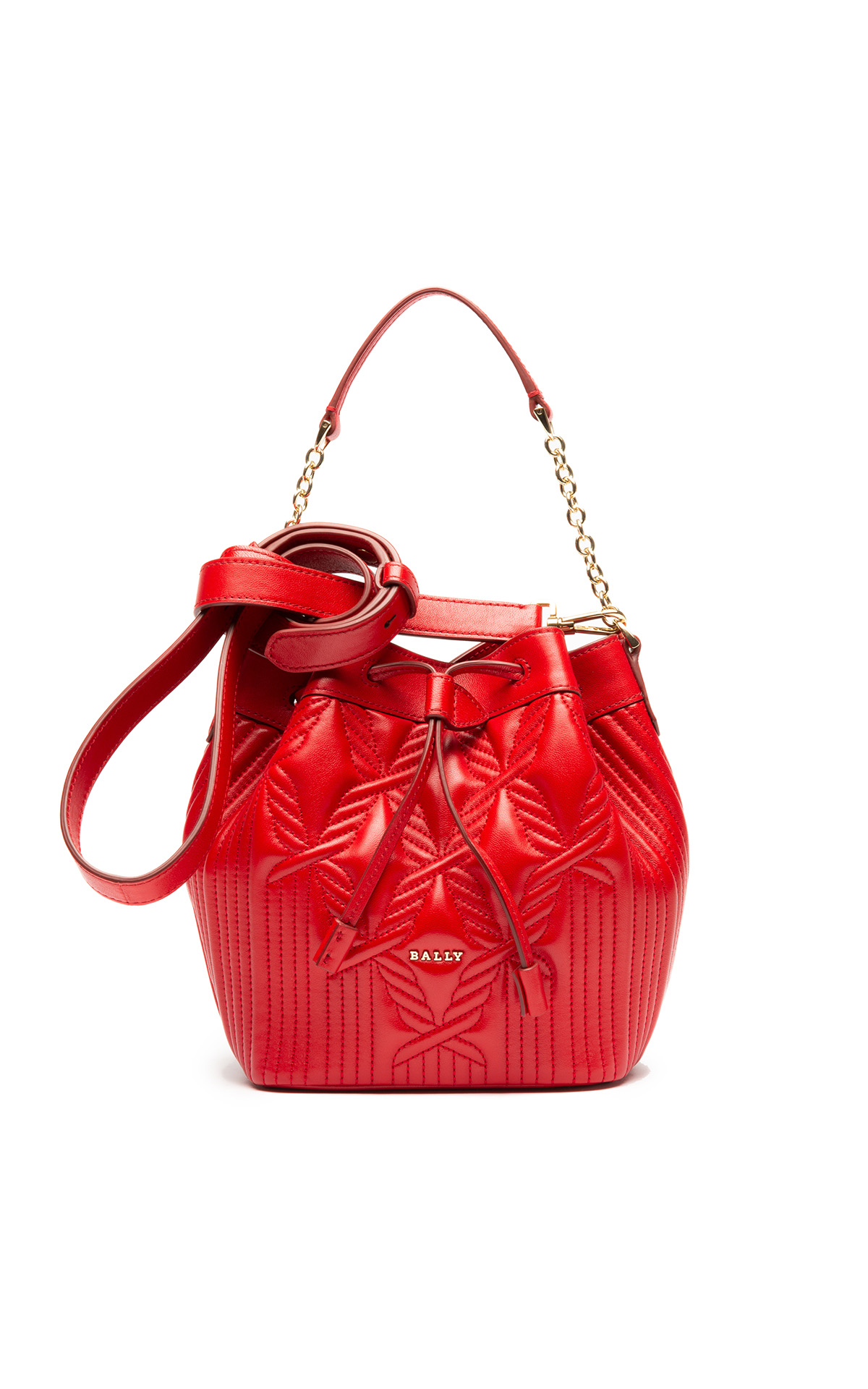 Bally Balear red ladies bag from Bicester Village