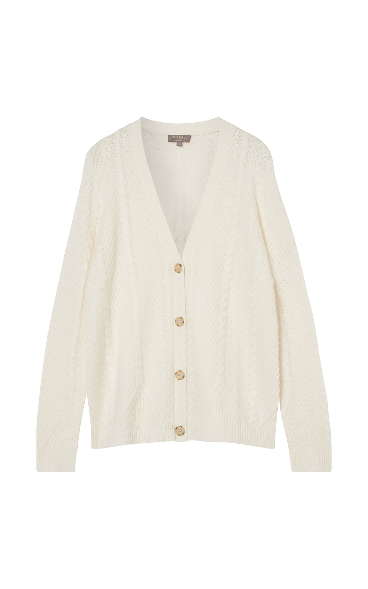 N. Peal Diagonal rib cardigan from Bicester Village