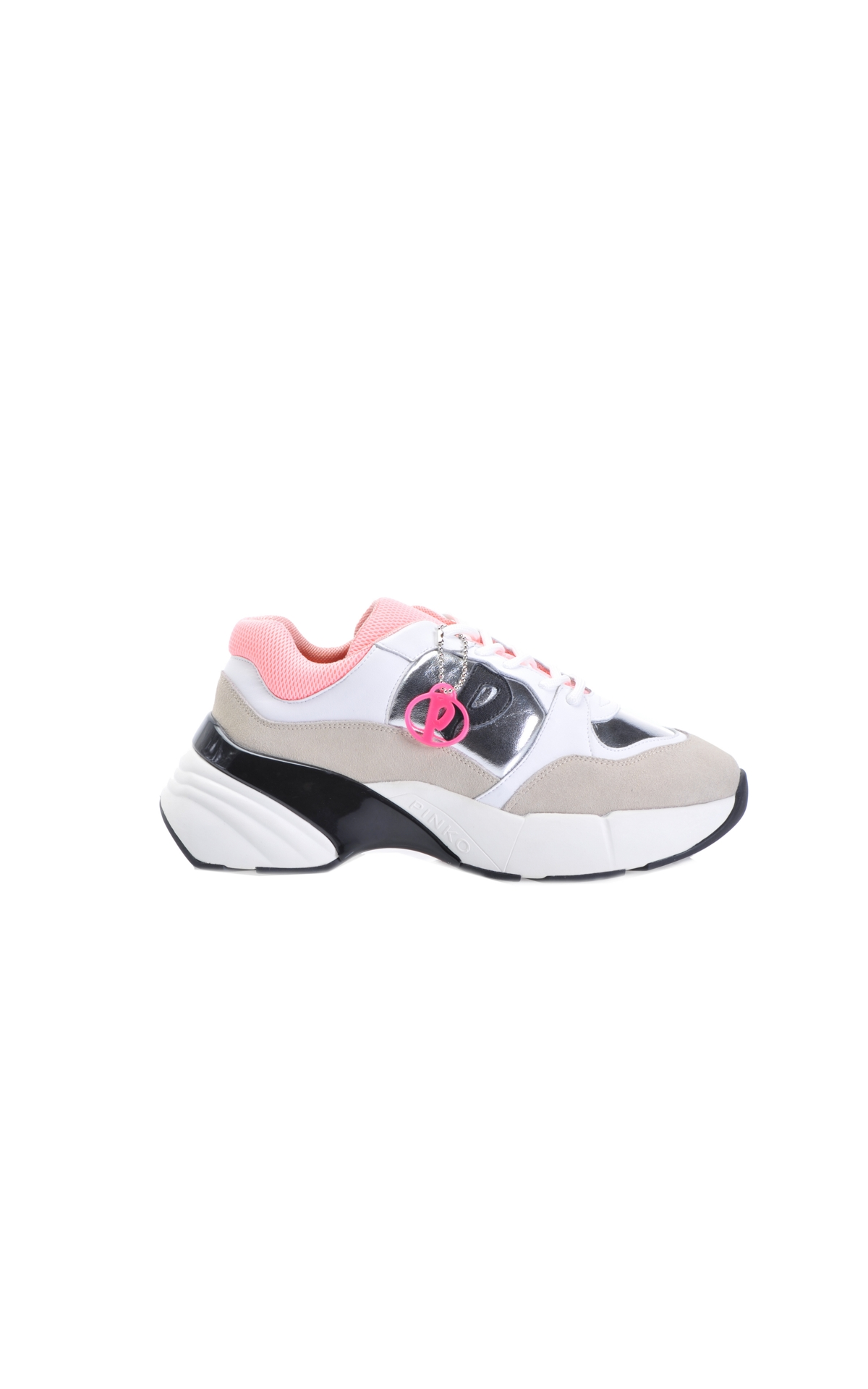 White and pink leather sneakers Pinko