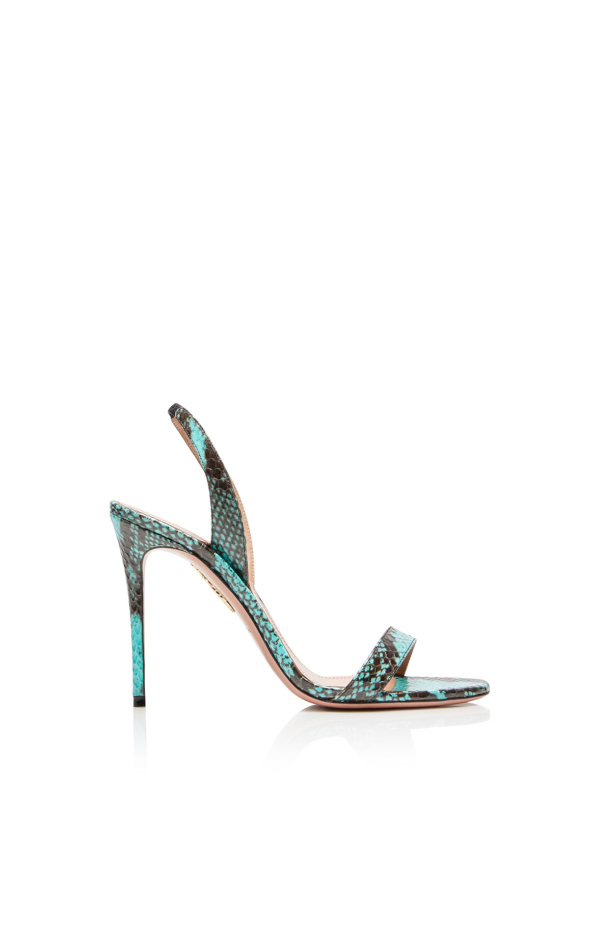 Aquazzura So nude sandal 105 turquoise from Bicester Village