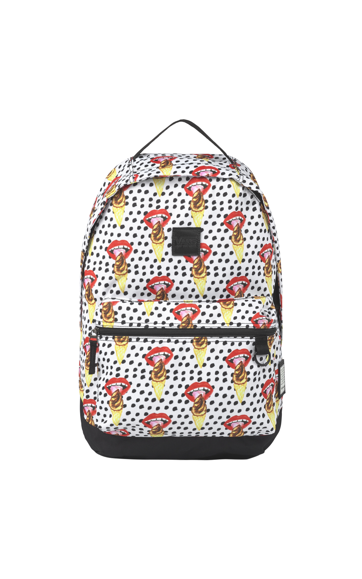 Printed bag with mouths Vans