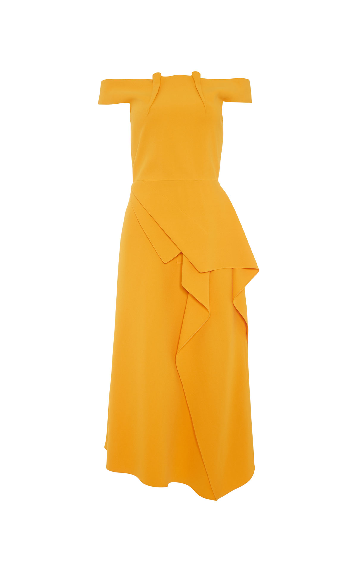 Roland Mouret Arch marigold dress from Bicester Village