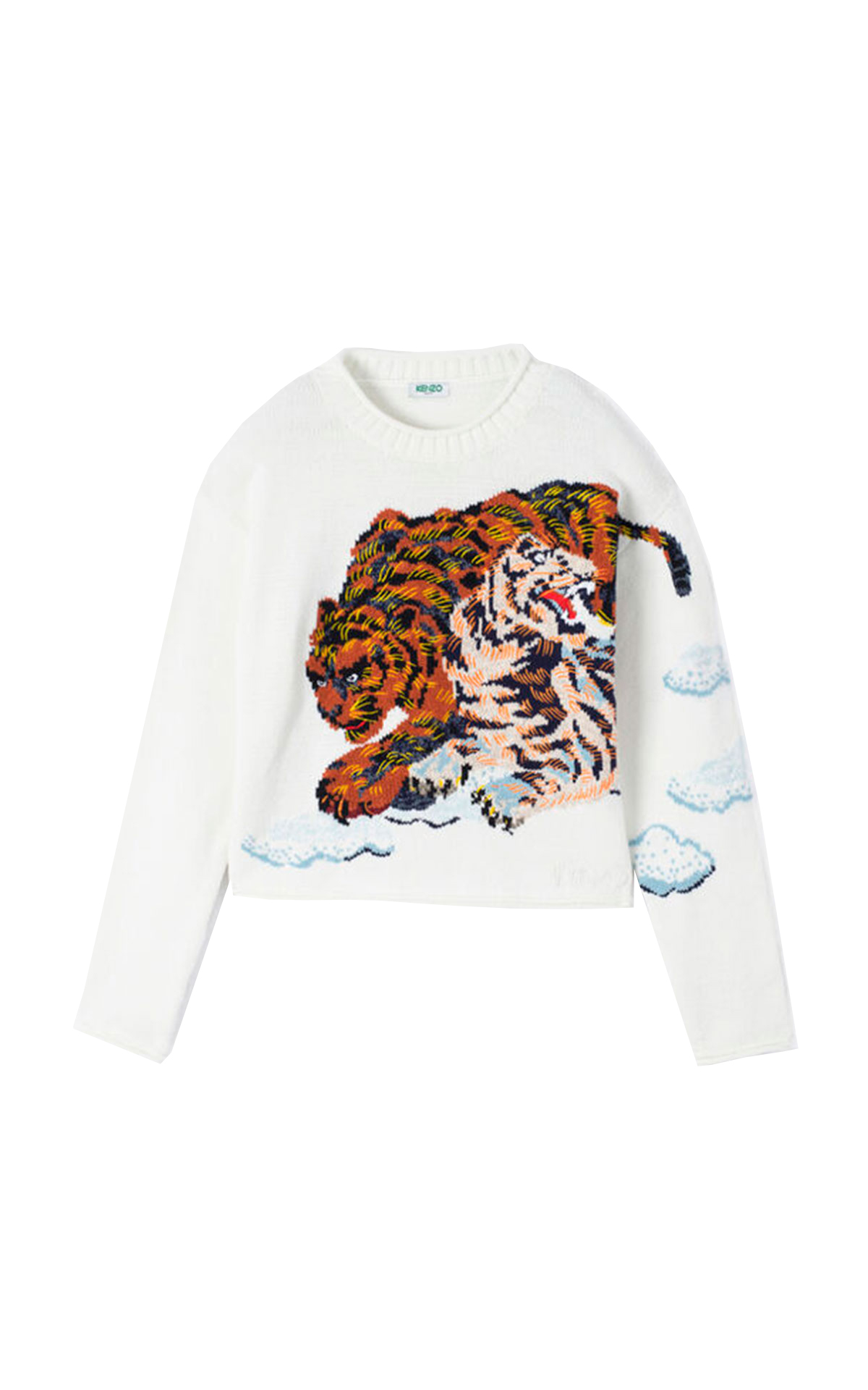 White sweater with tiger Kenzo