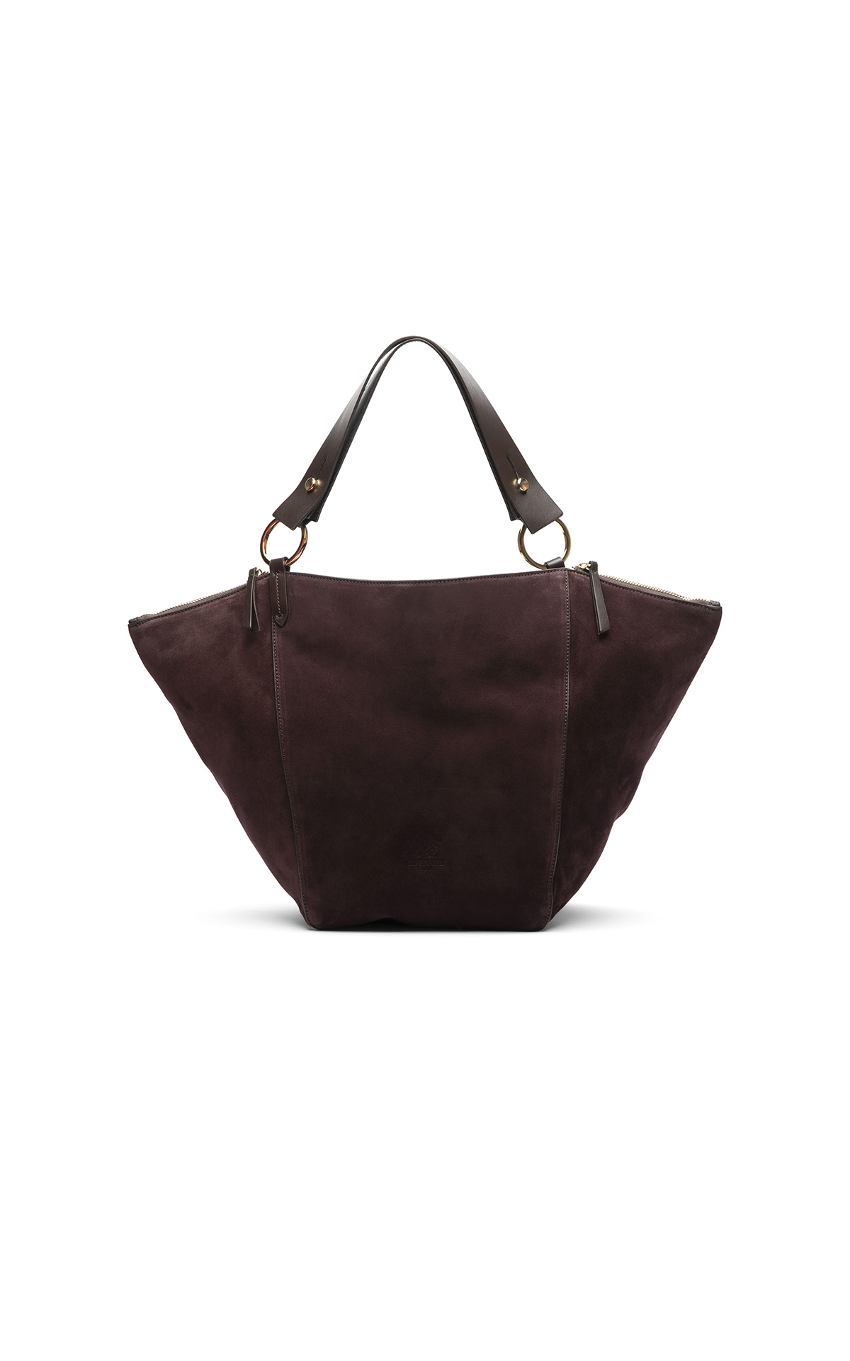 Burgundy velvet bag Lottusse