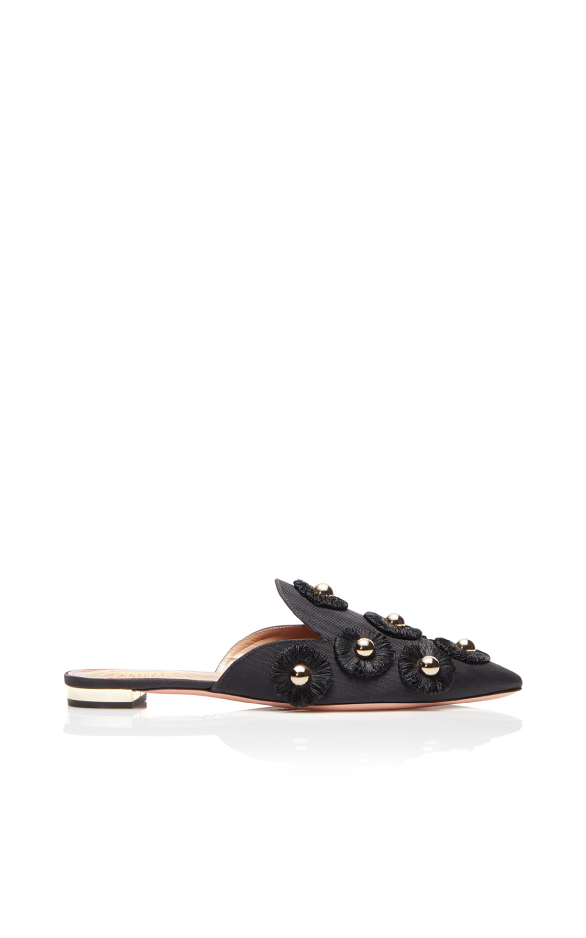Aquazzura Sunflower flat black from Bicester Village