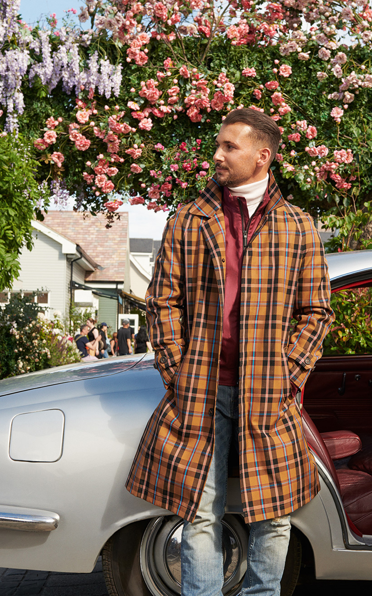 Sandro Rasa poses at The Bicester Village Shopping Collection's autumn campaign shoot