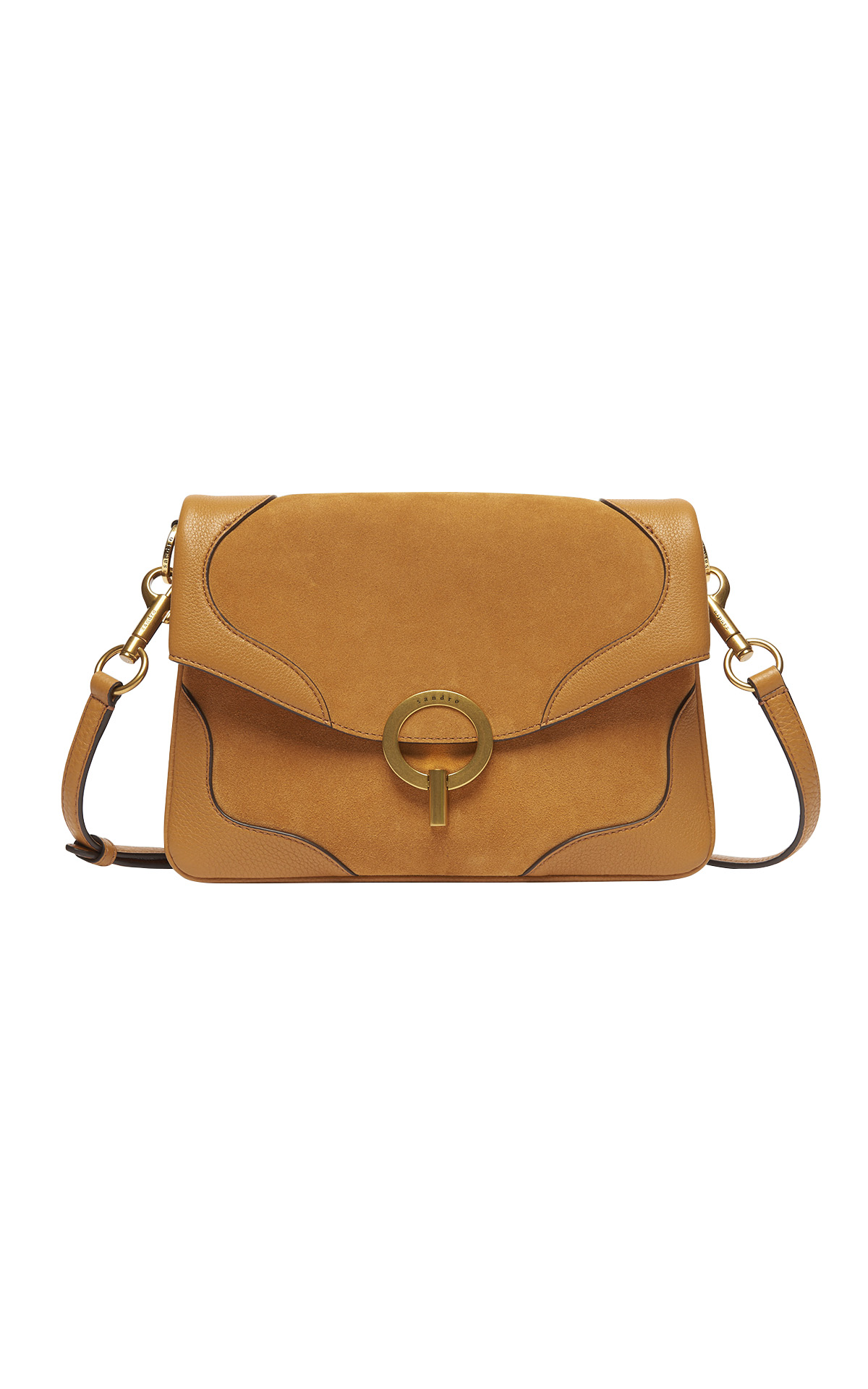 Camel shoulder bag Sandro