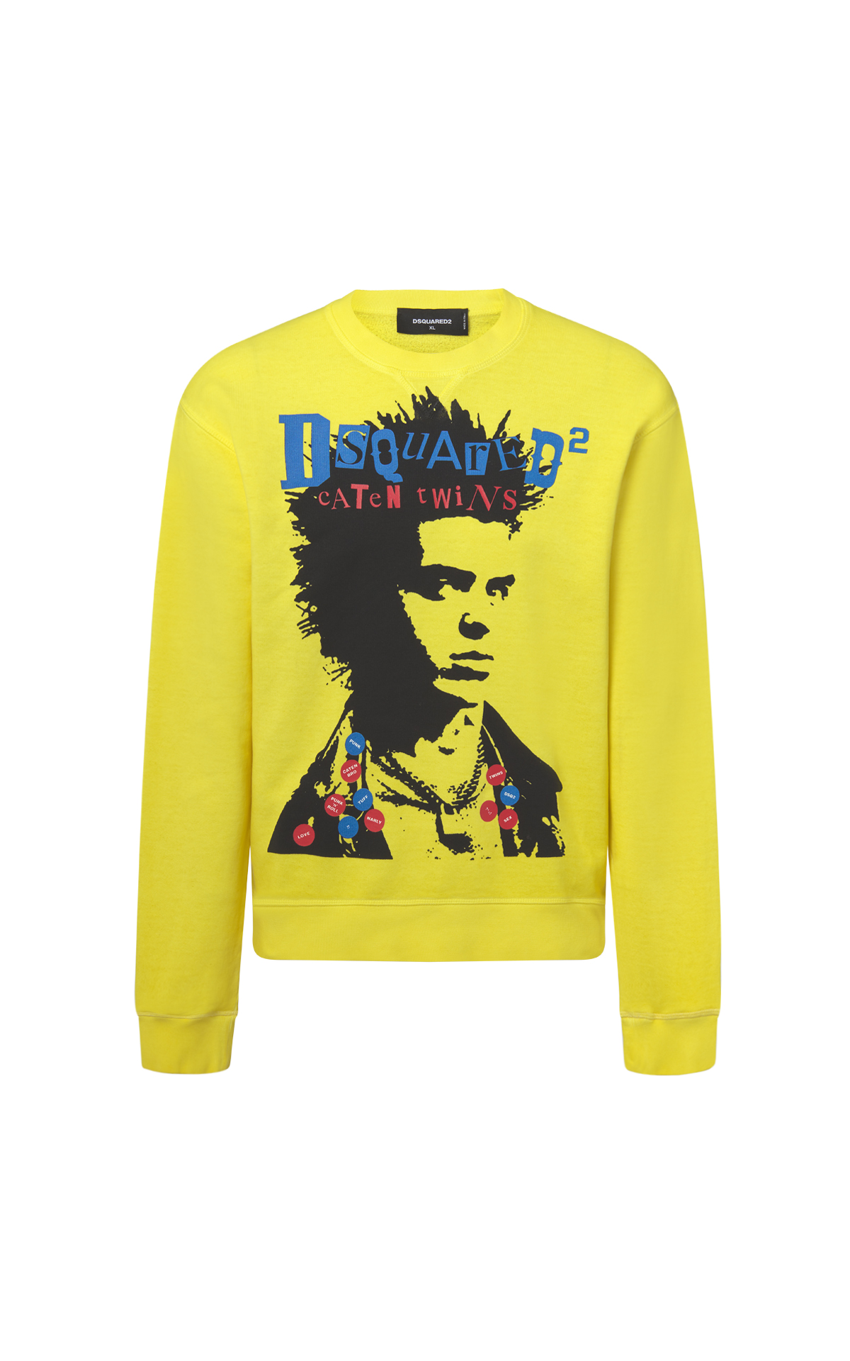 Yellow sweatshirt man Dsquared2