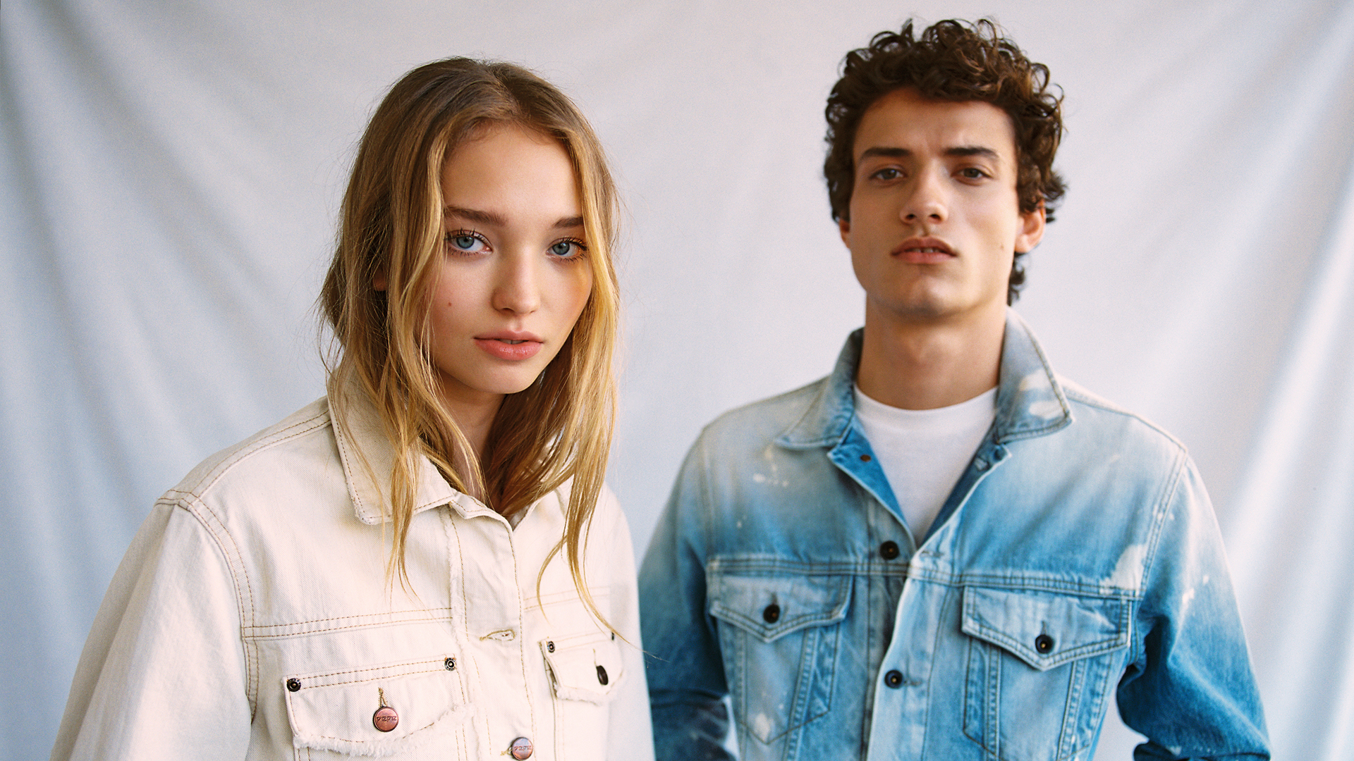 Couple wearing denim Pepe Jeans