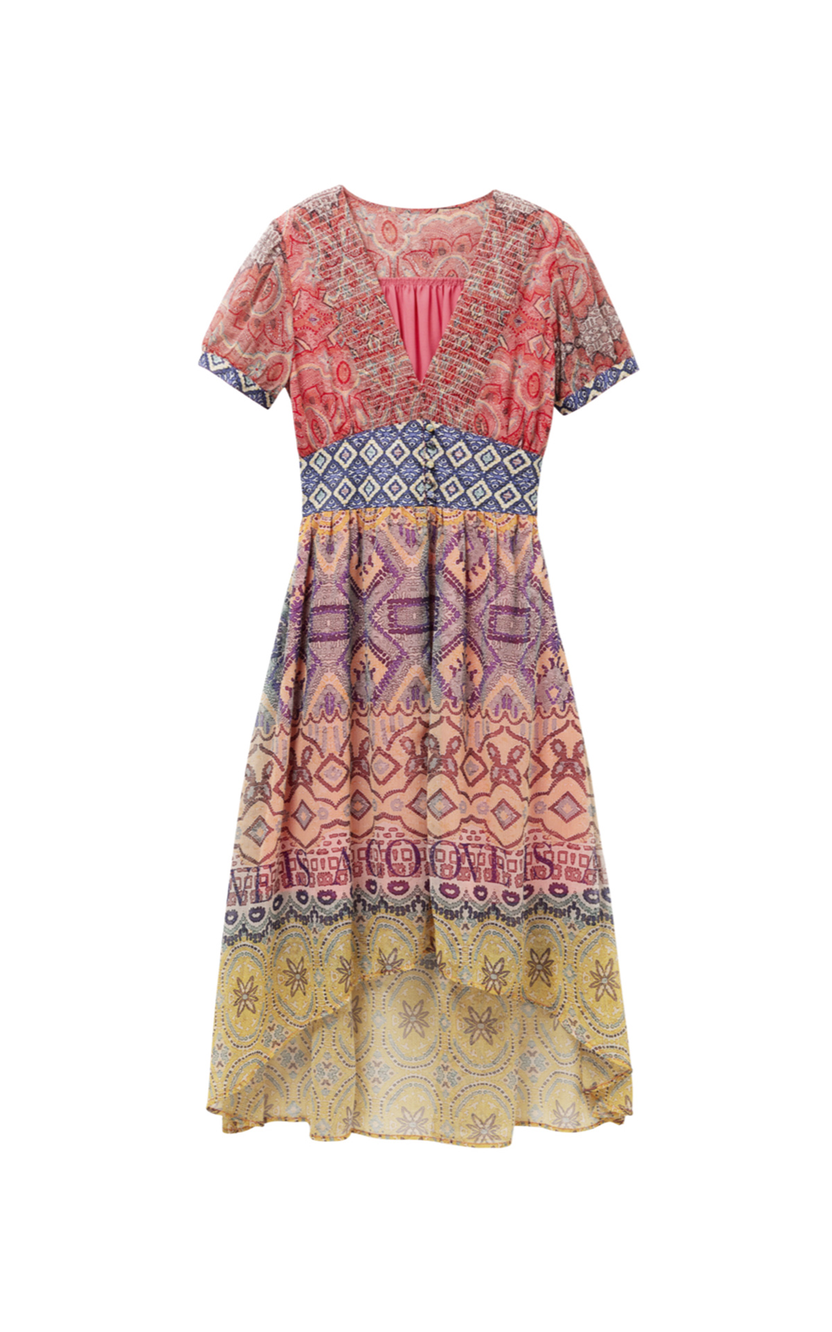 Midi printed women's dress Desigual