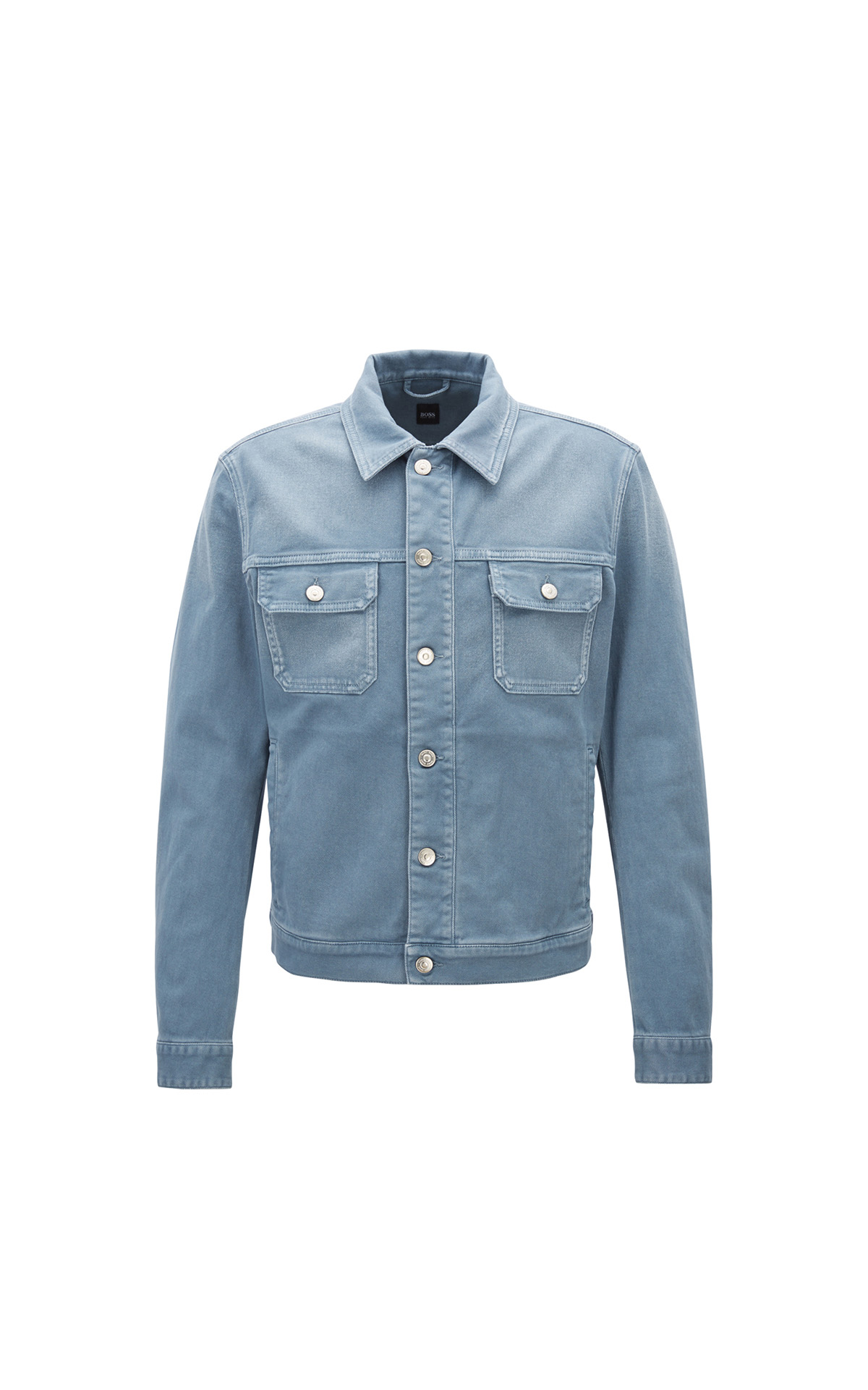 Boss Fitted Jacket in Coloured Stretch Denim at The Bicester Village Shopping Collection