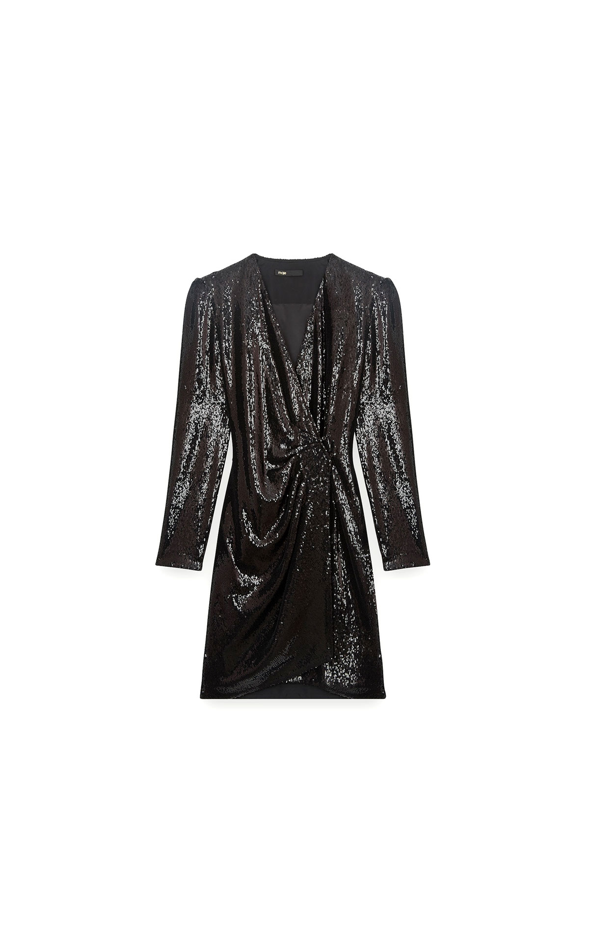 Maje Sequin evening dress in black at The Bicester Village Shopping Collection