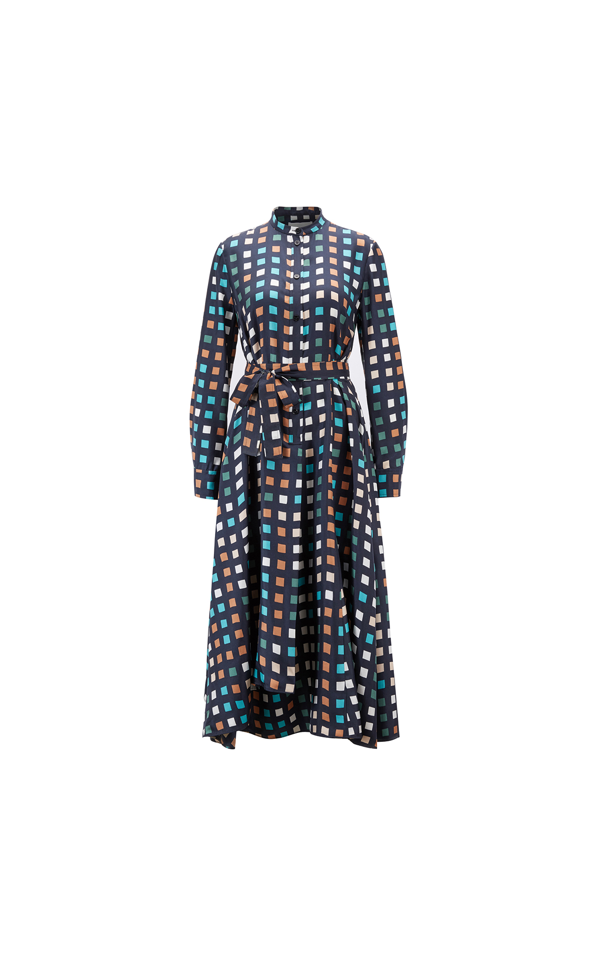 BOSS Women's cube-print shirt dress at The Bicester Village Shopping Collection