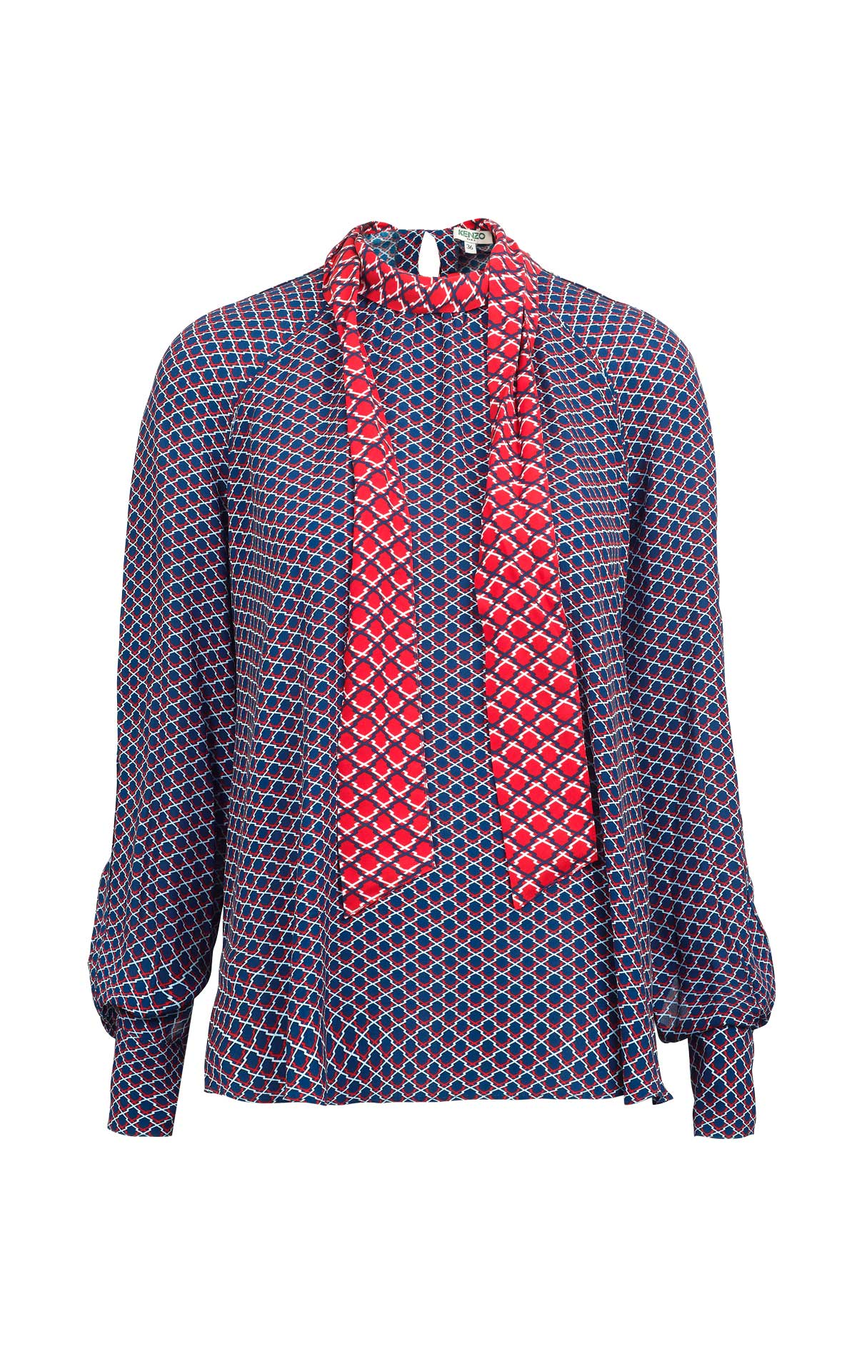 Printed blue and red blouse Kenzo